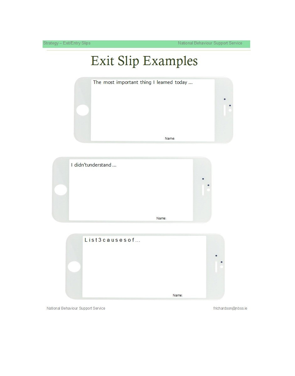 Free exit ticket template 04