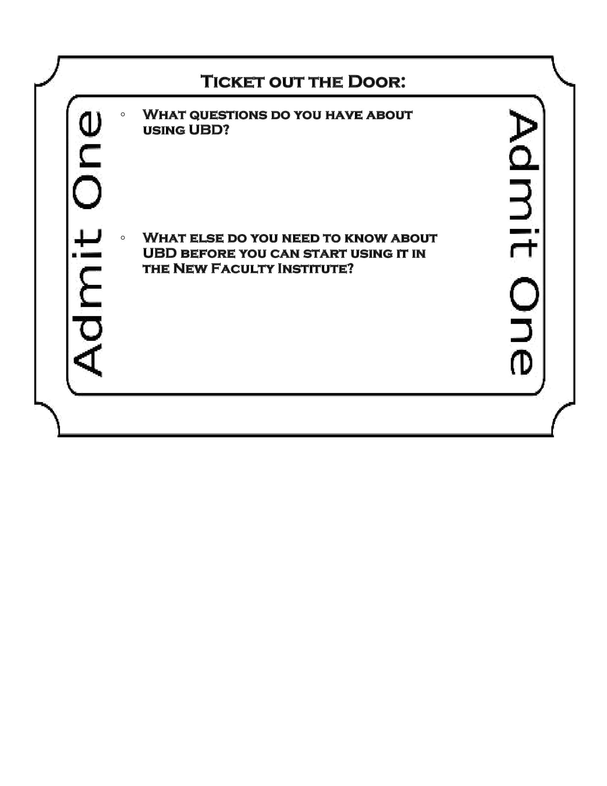 Free exit ticket template 06