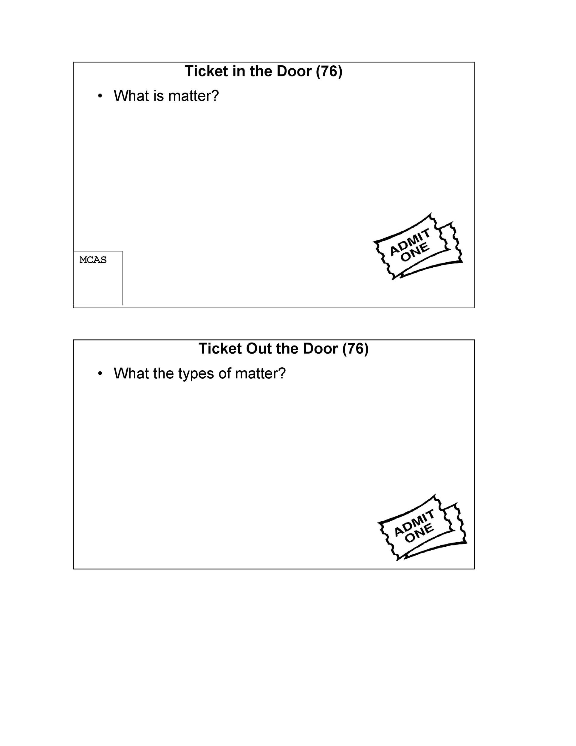 Free exit ticket template 08