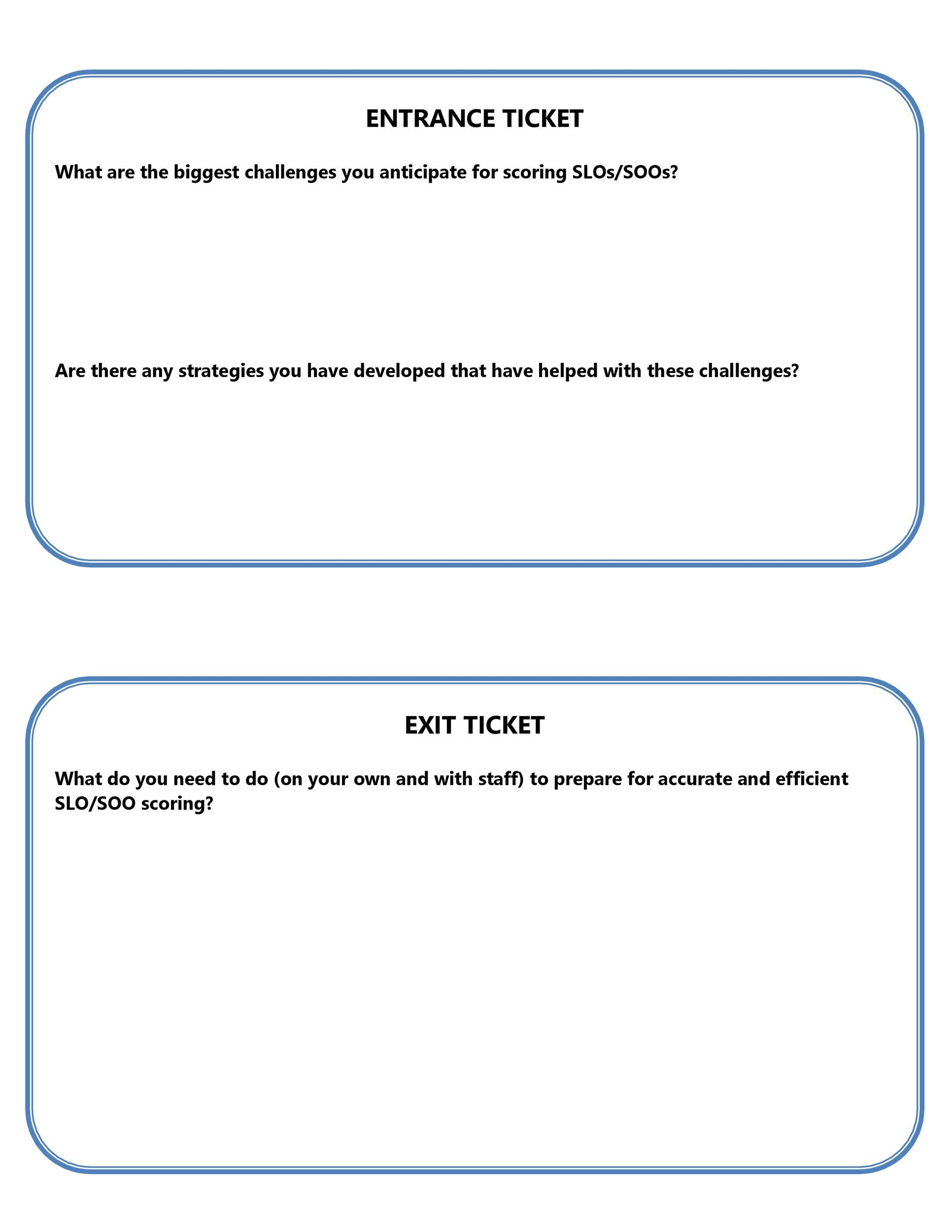 Free exit ticket template 16