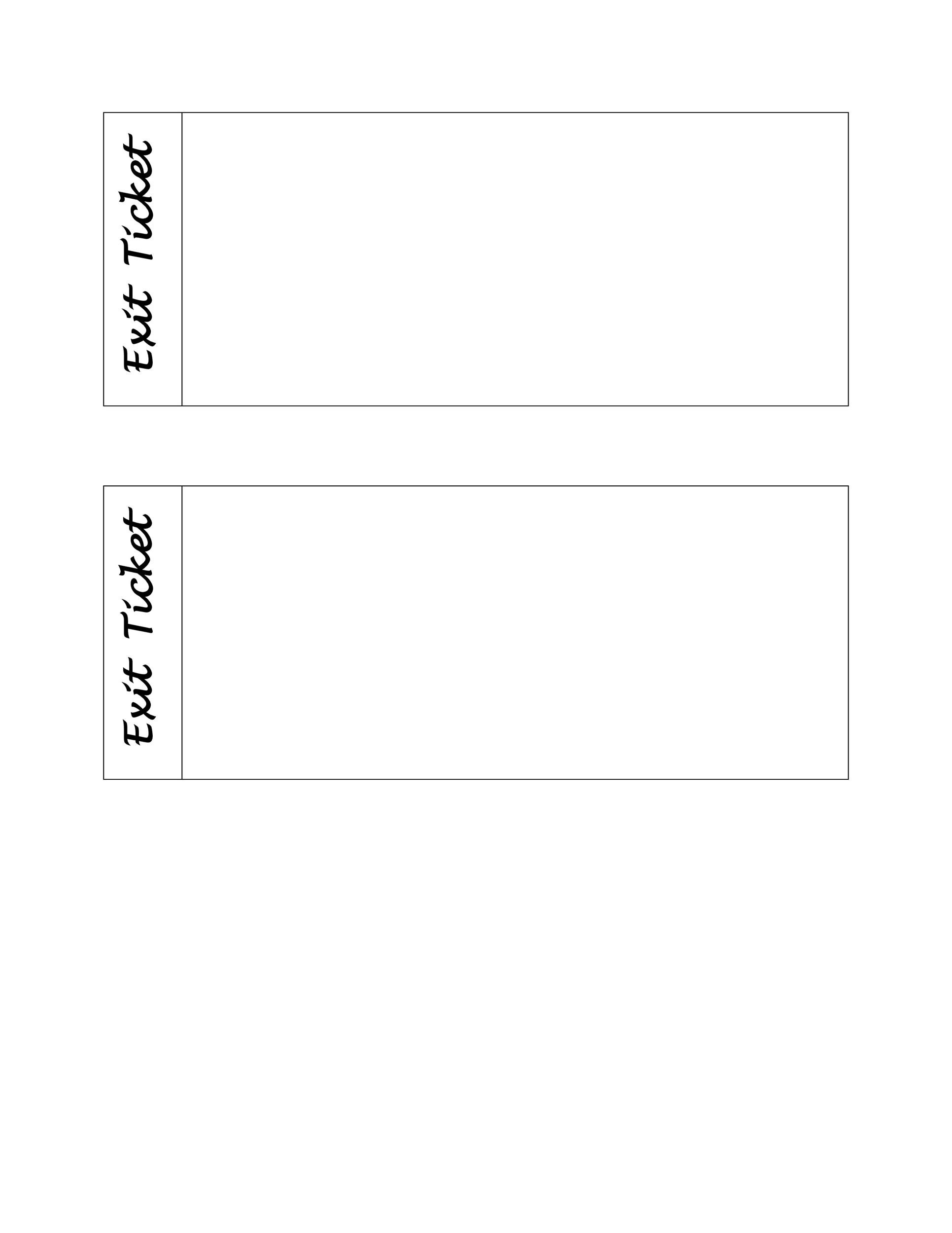 Free exit ticket template 18
