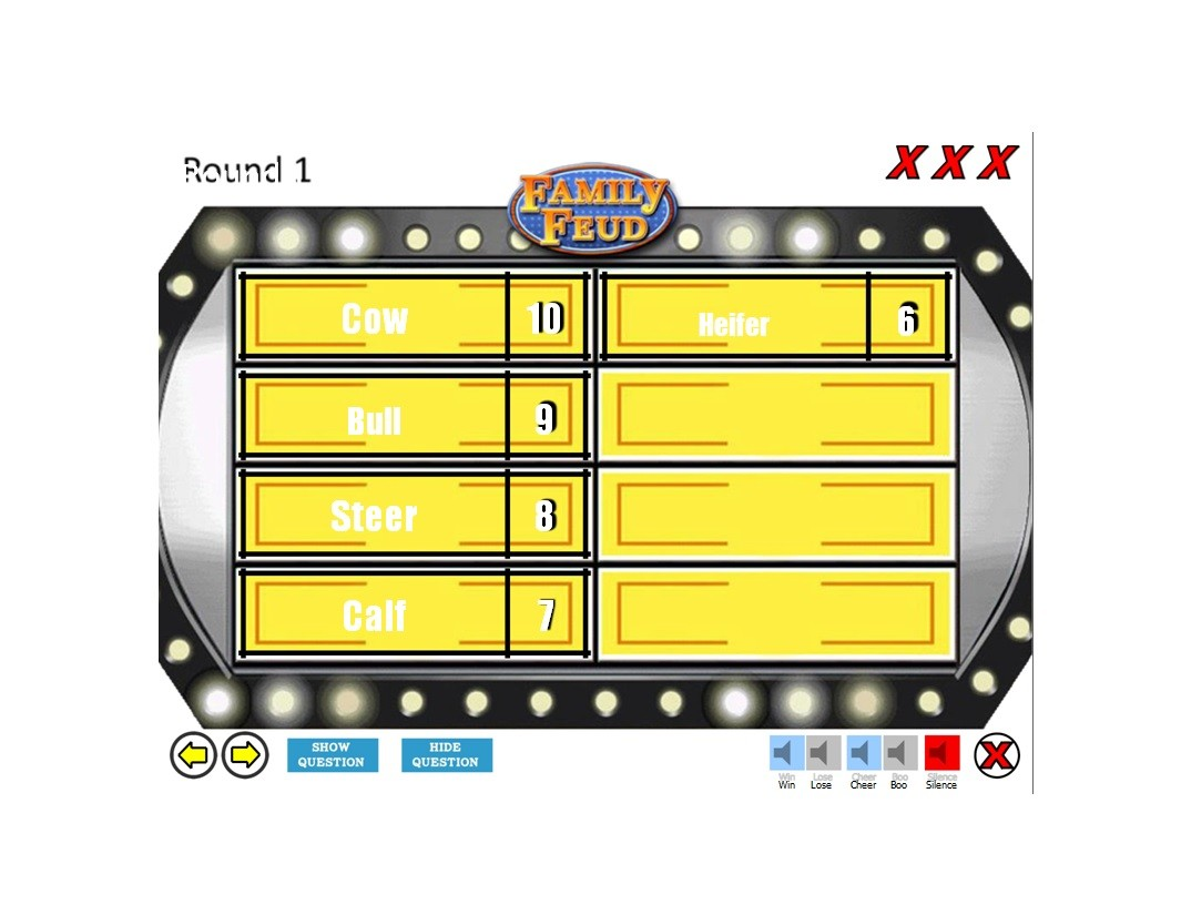Free family feud template 01
