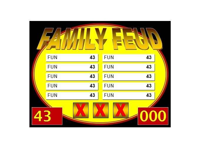 Free family feud template 20
