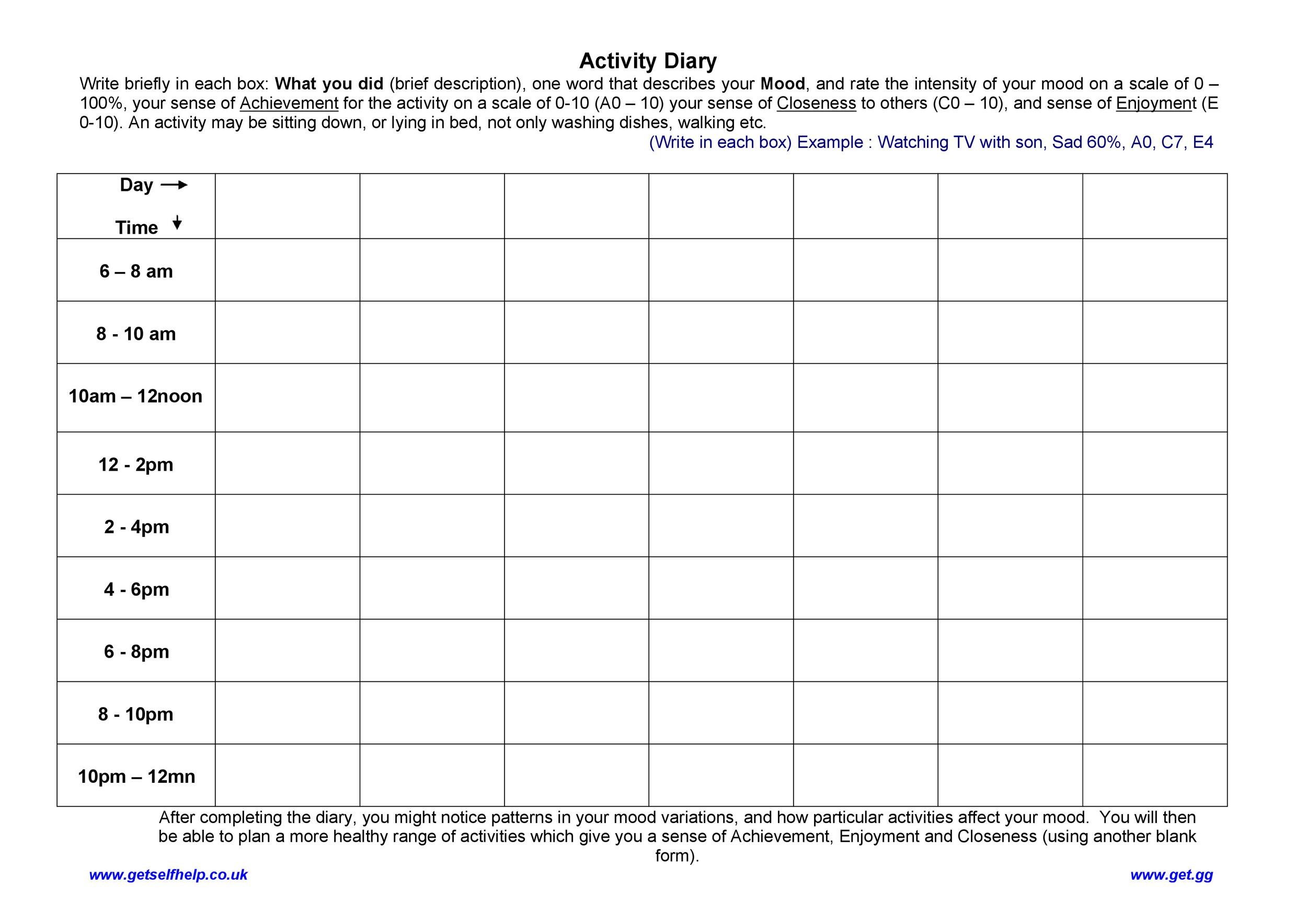 Free hourly schedule template 31