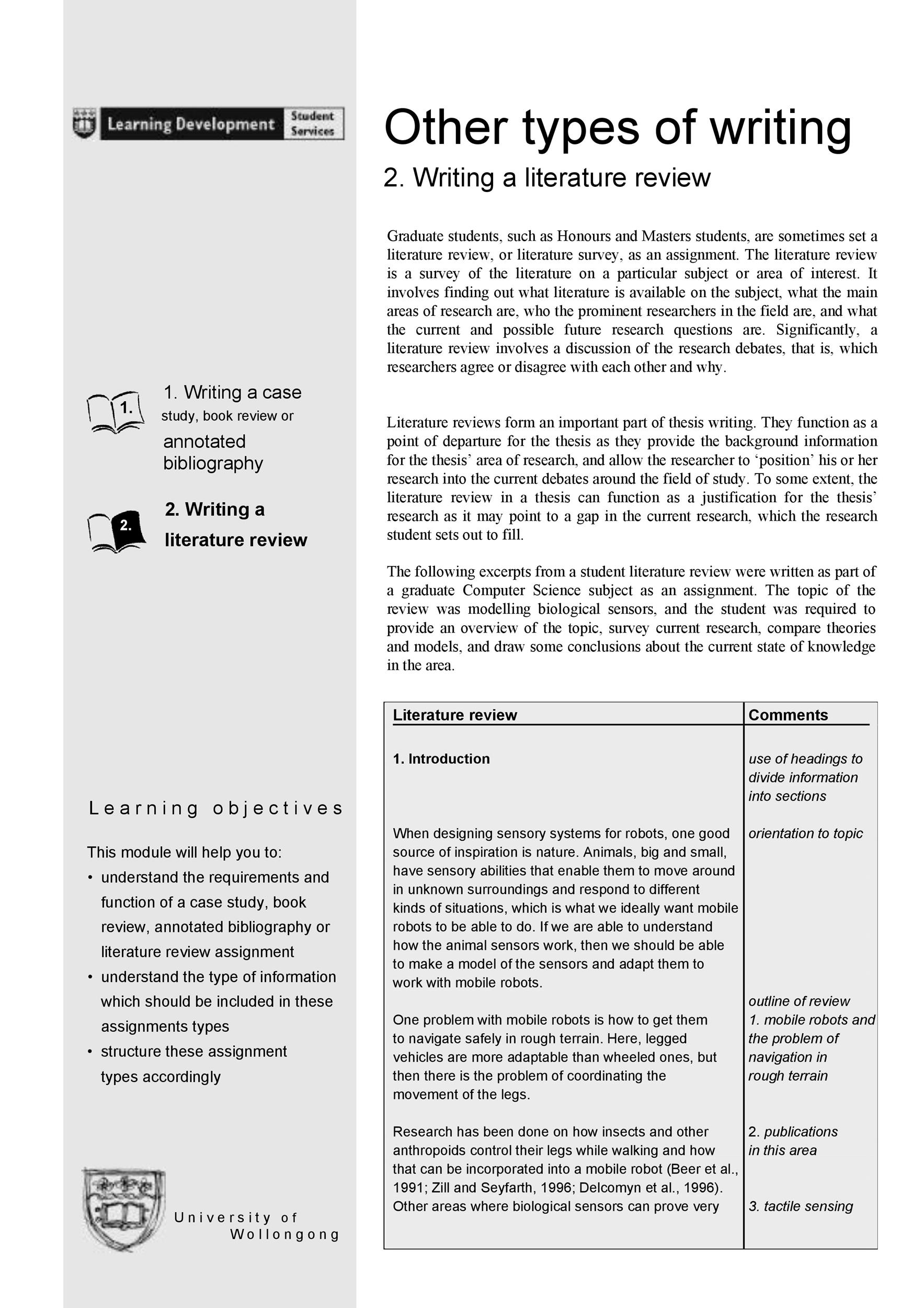 Free literature review template 10