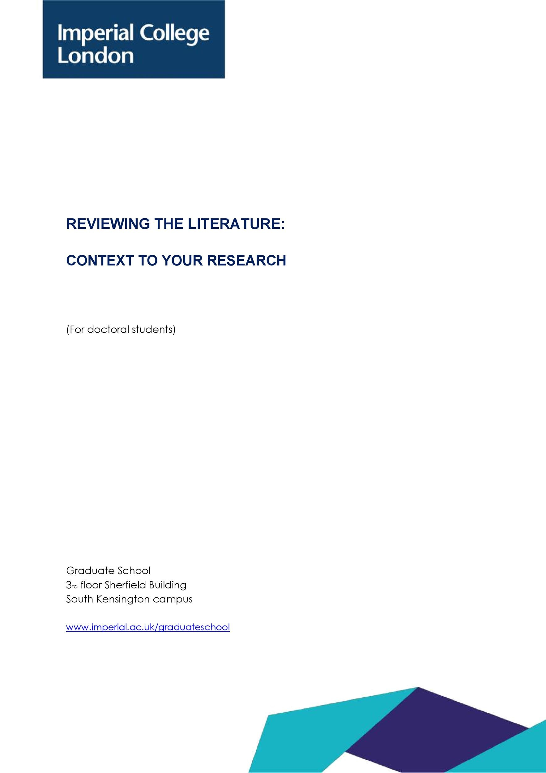 Free literature review template 16