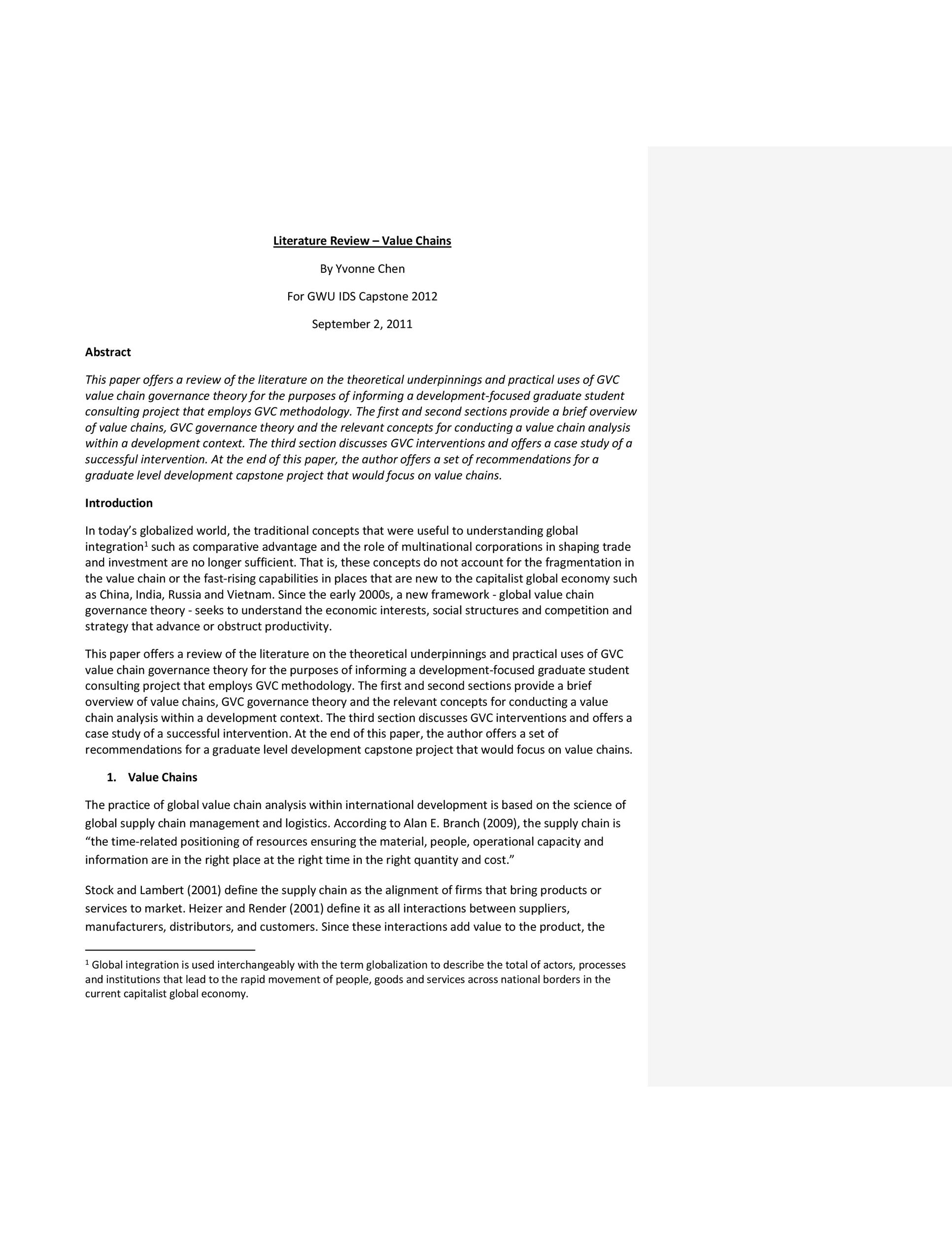 Free literature review template 31