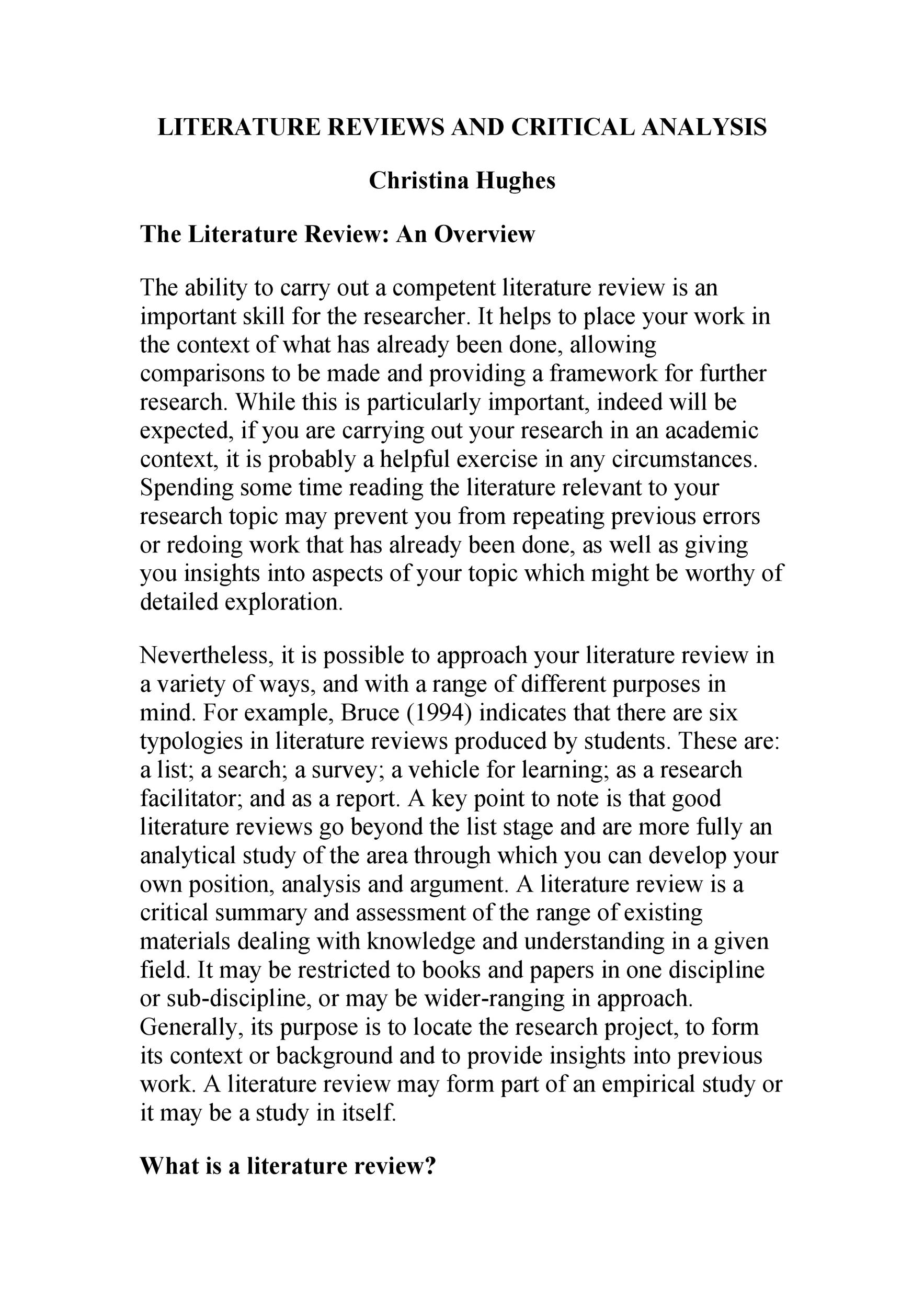 Free literature review template 33