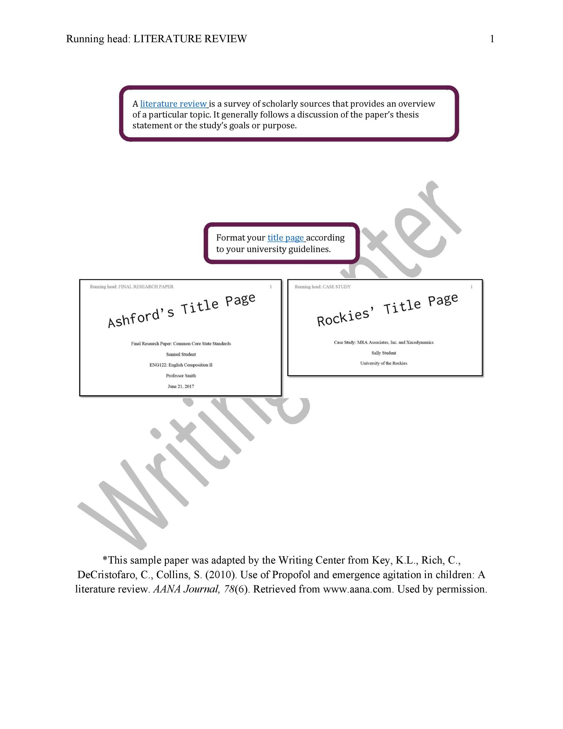 Free literature review template 48