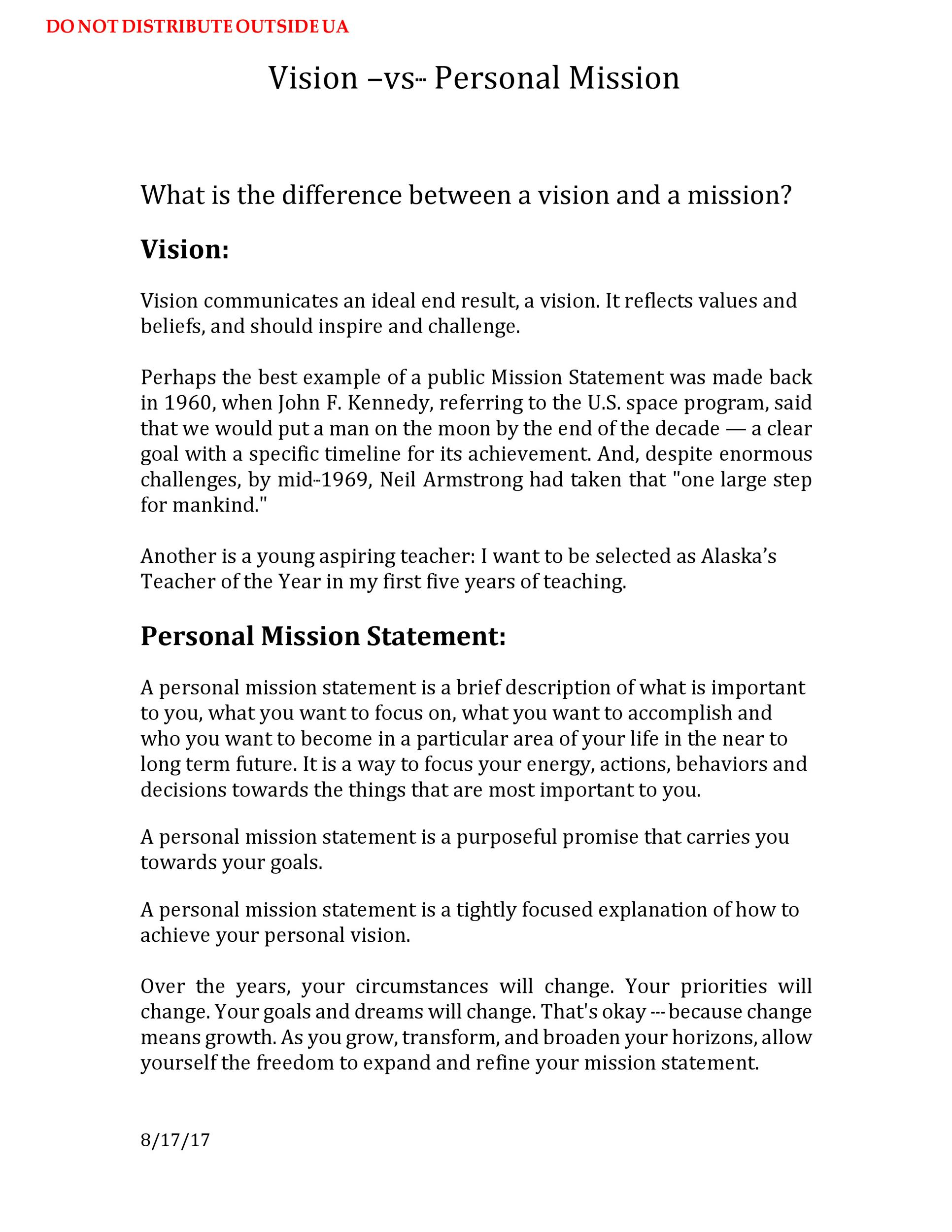 Free mission statement template 15