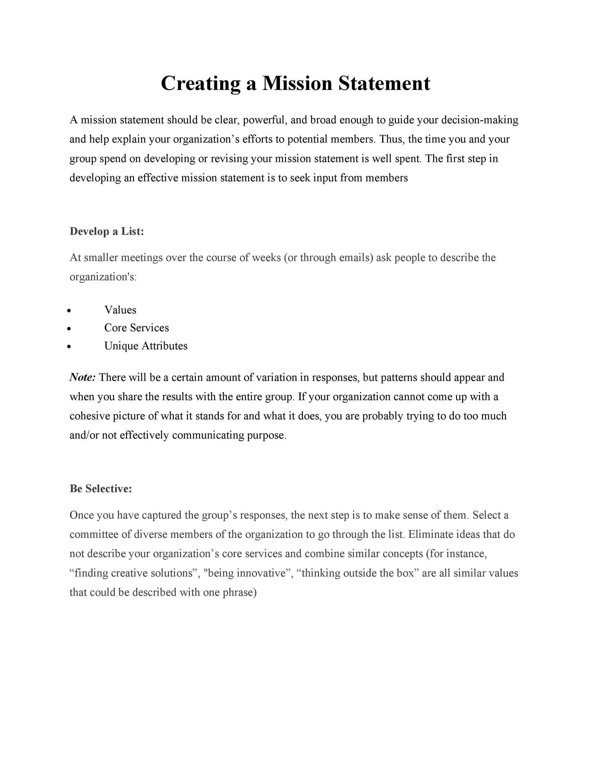 Free mission statement template 20