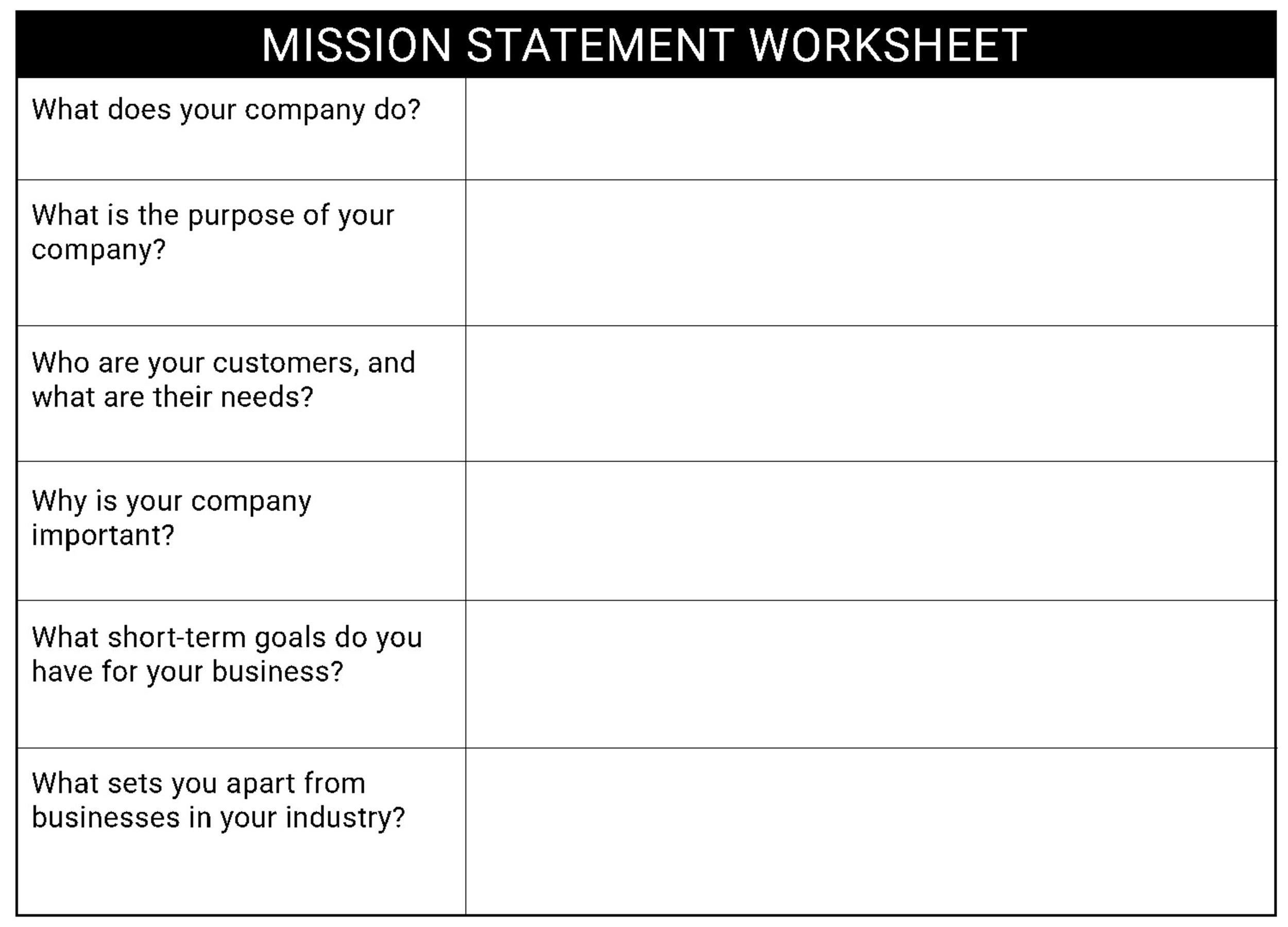 Free mission statement template 36
