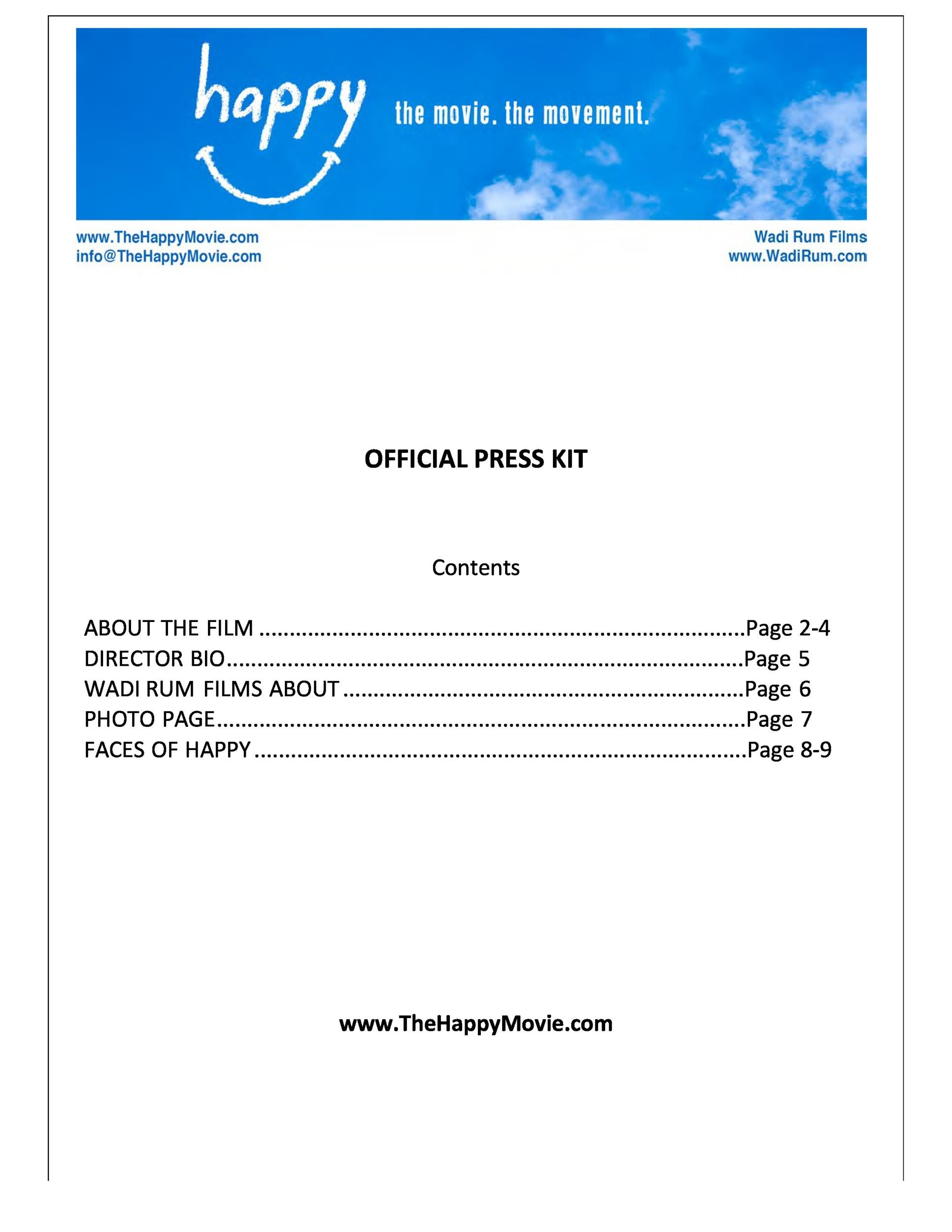 Free press kit template 25