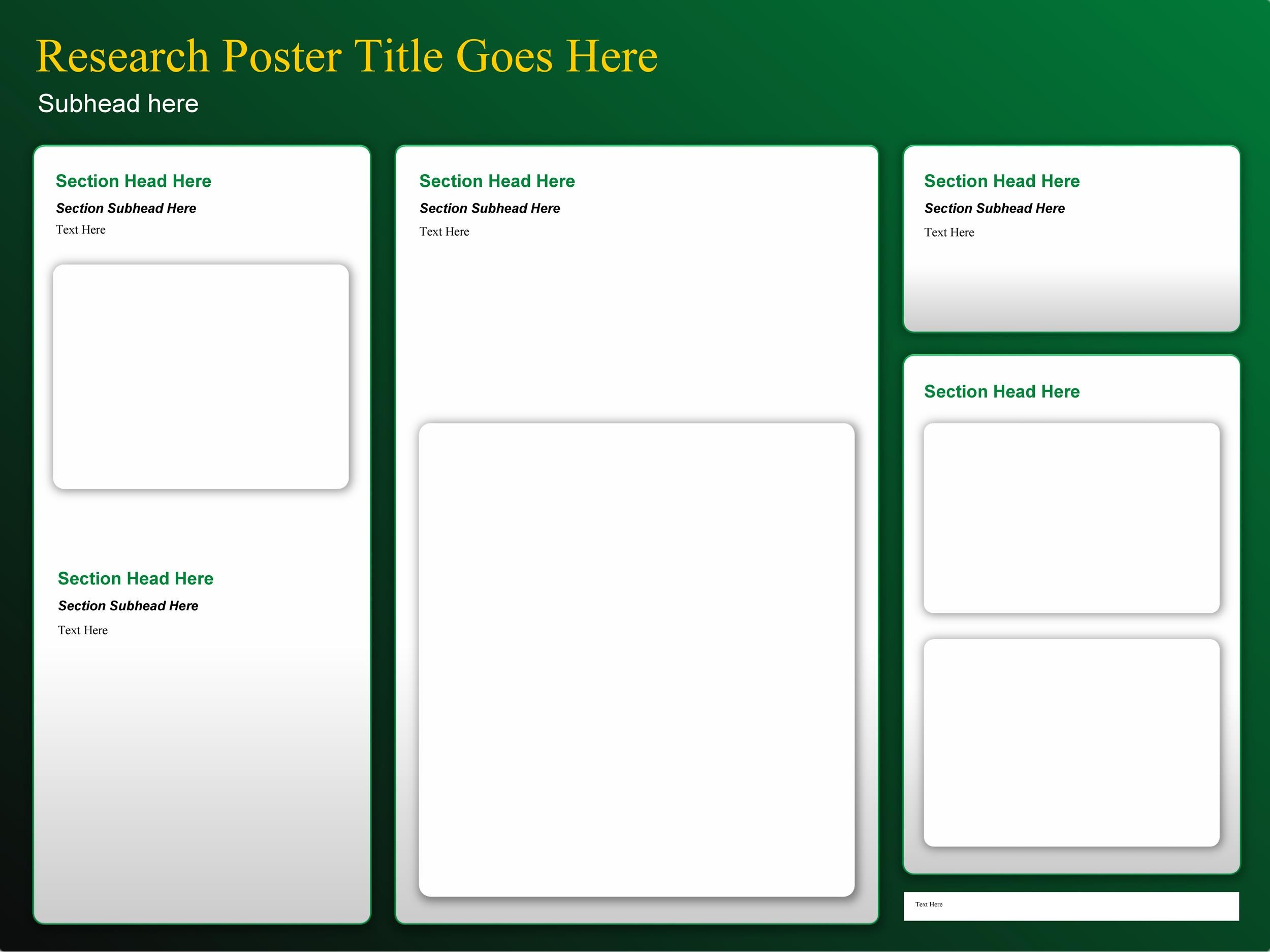 Free research poster template 02