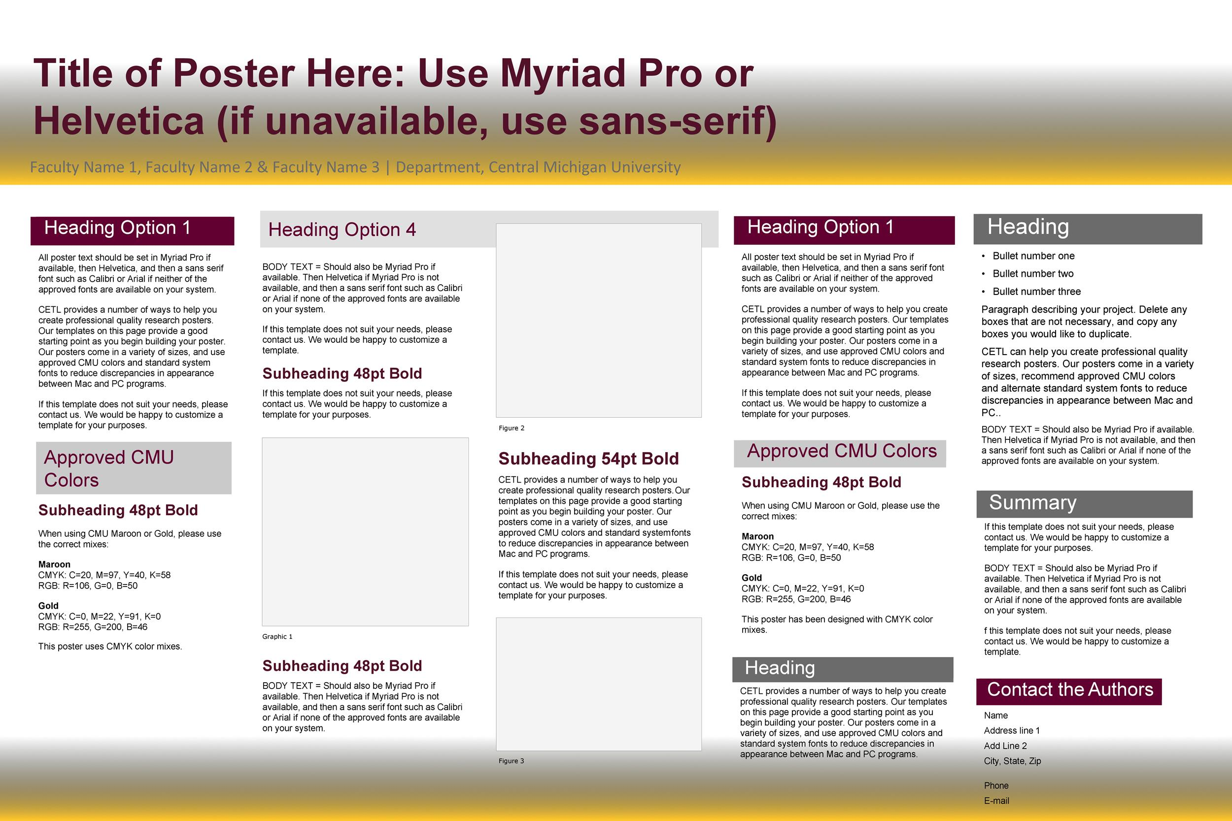 Free research poster template 03