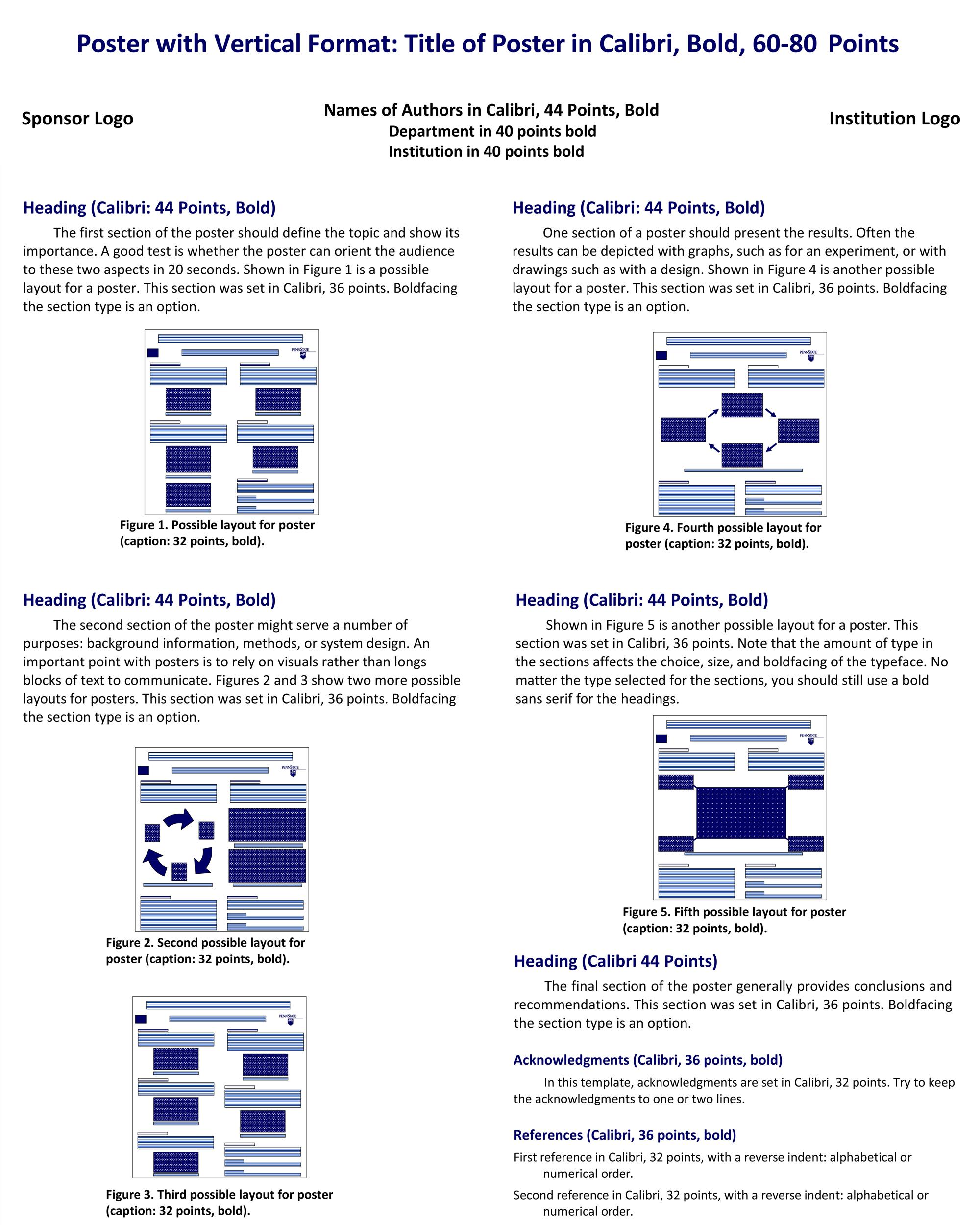 Free research poster template 04