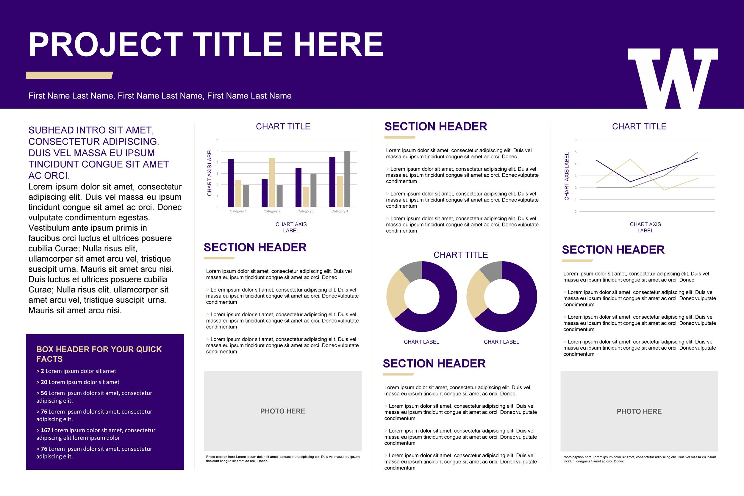 Free research poster template 05