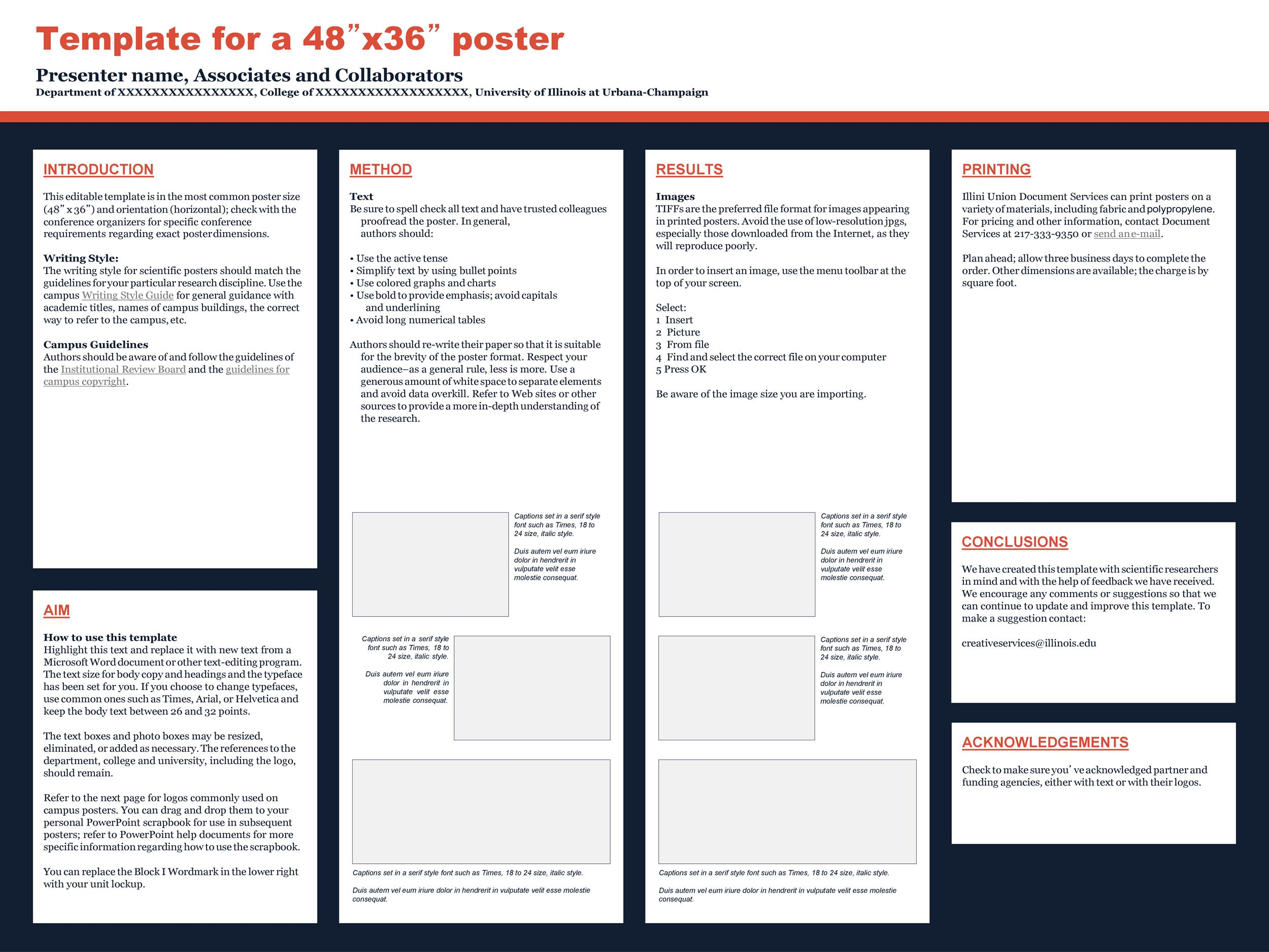 Free research poster template 06