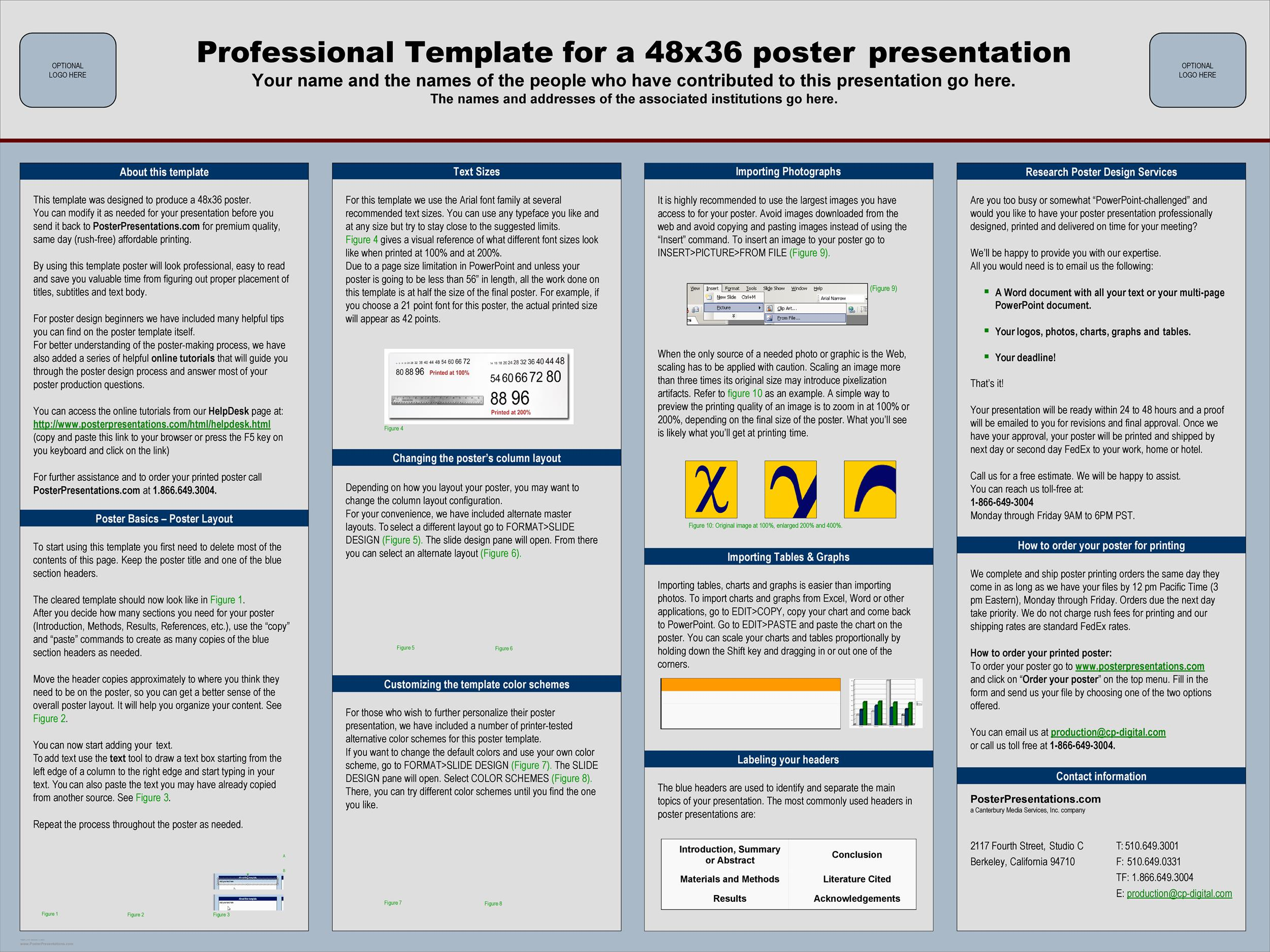Free research poster template 07