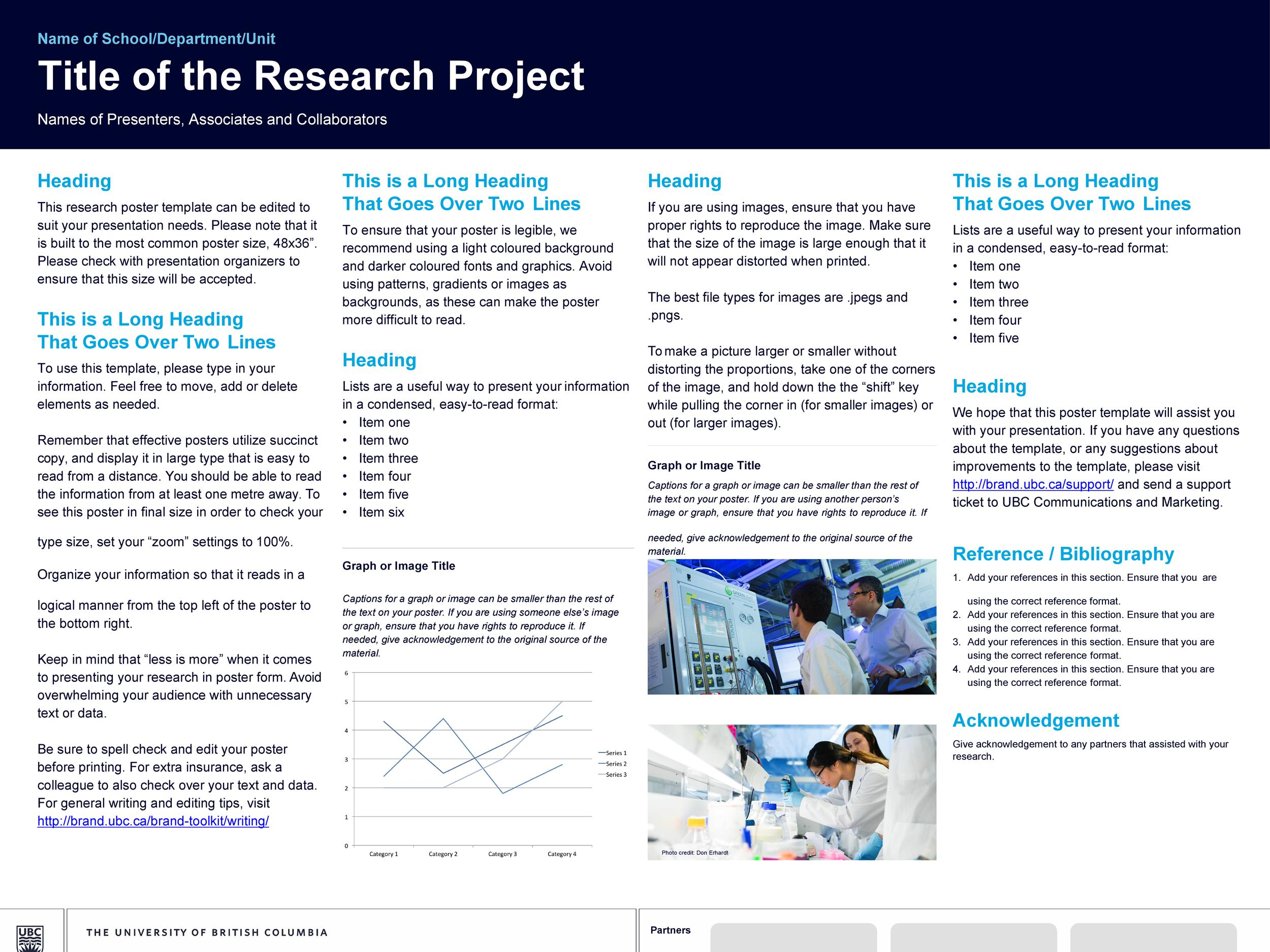 Free research poster template 08