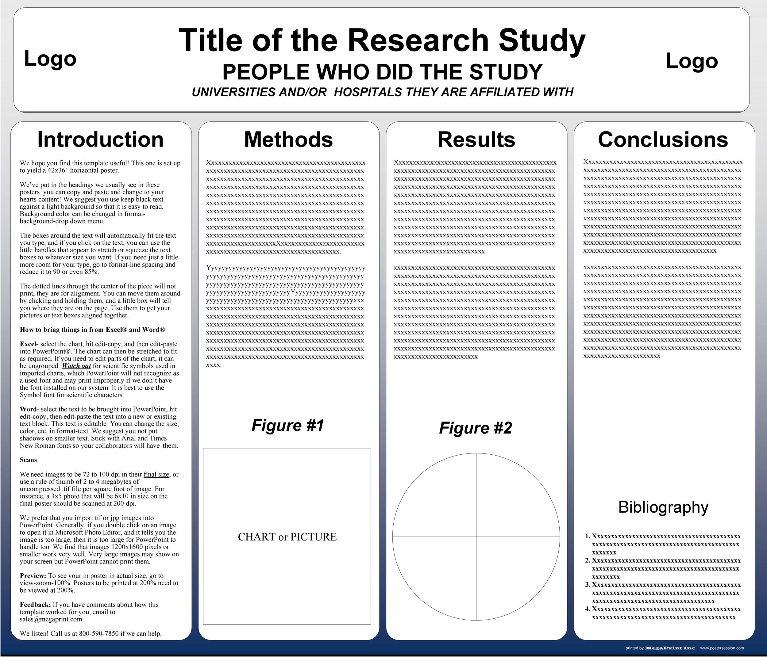 Free research poster template 12