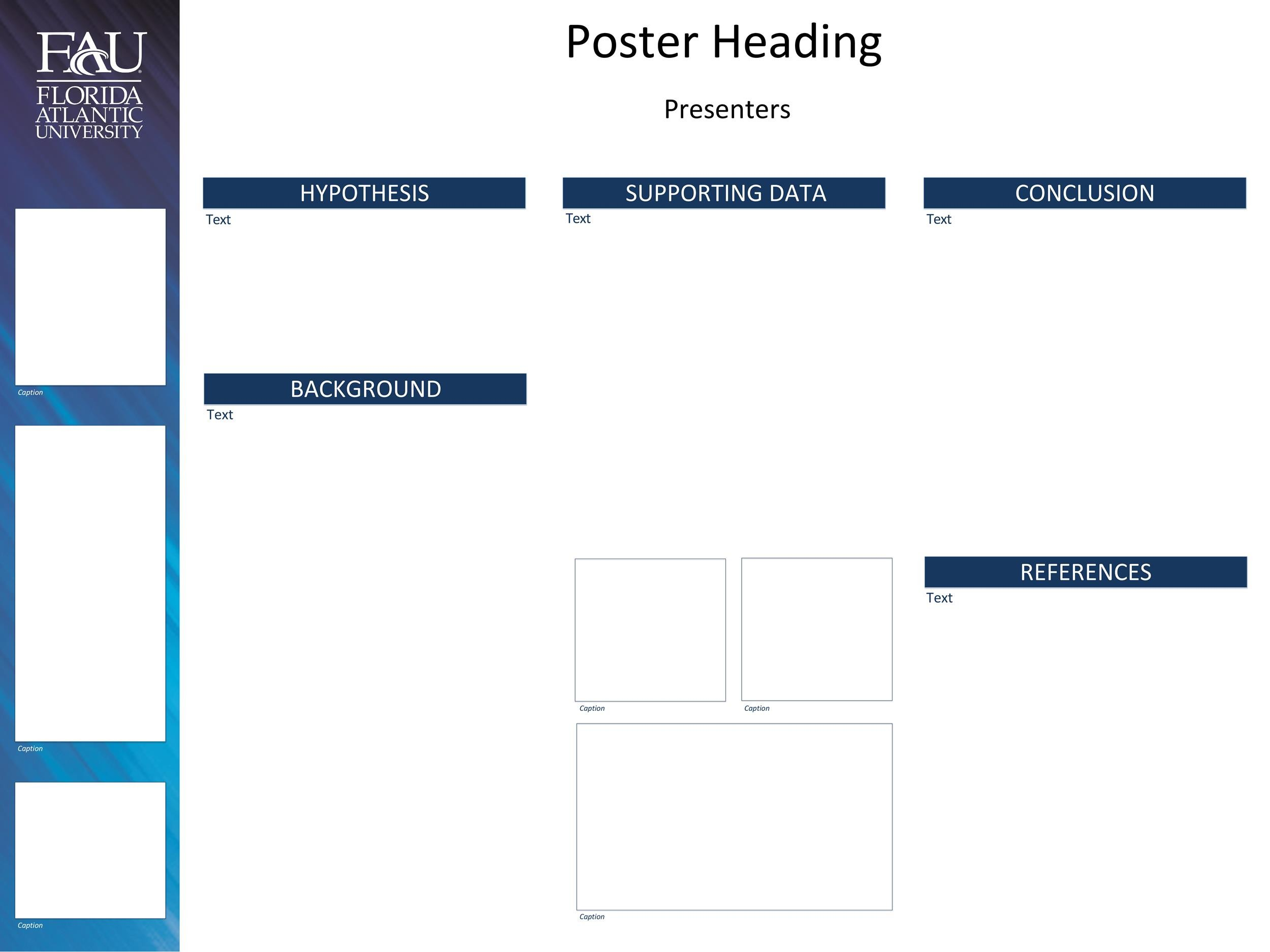 Free research poster template 14
