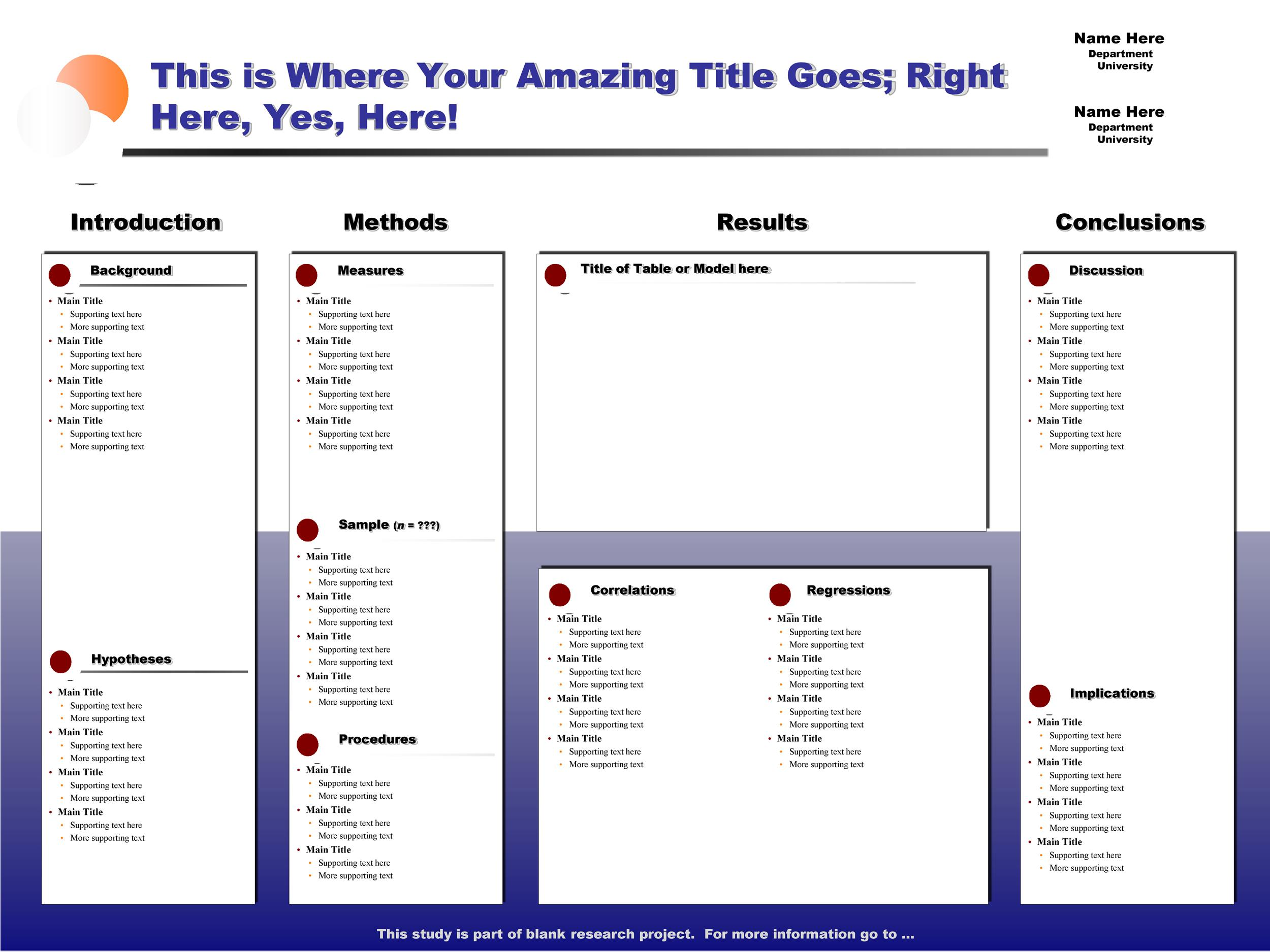 Free research poster template 15