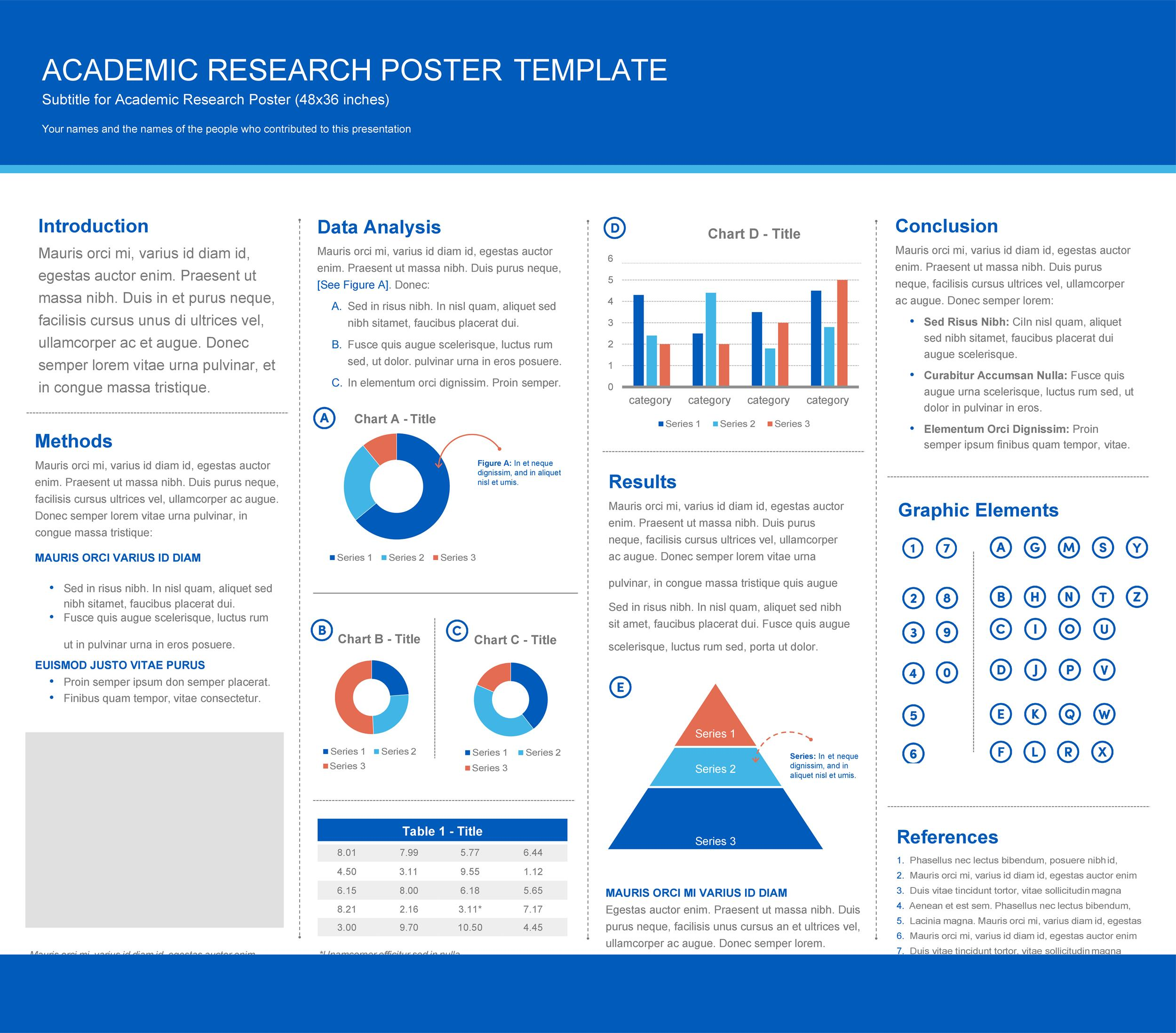 Free research poster template 18