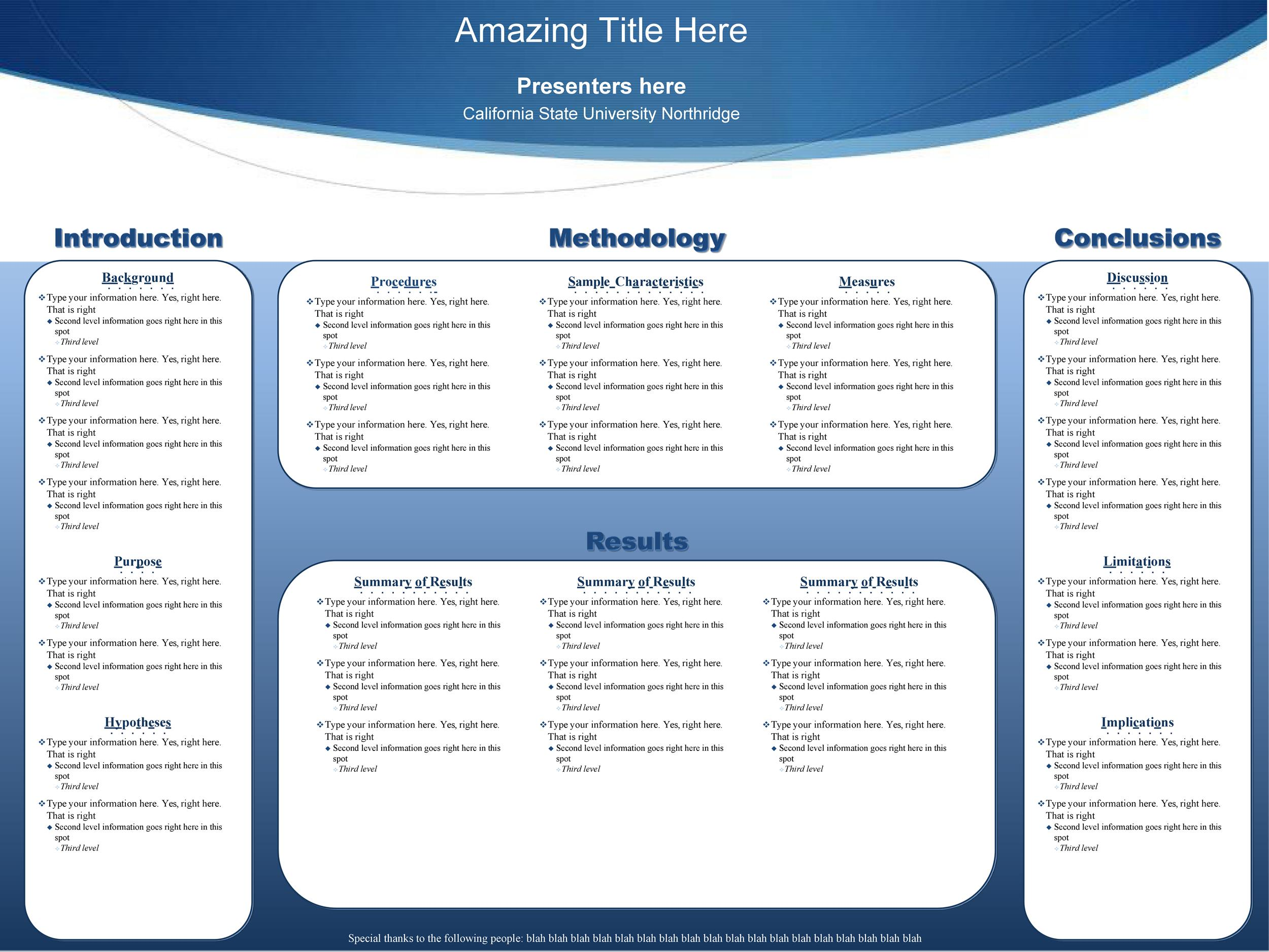 Free research poster template 25