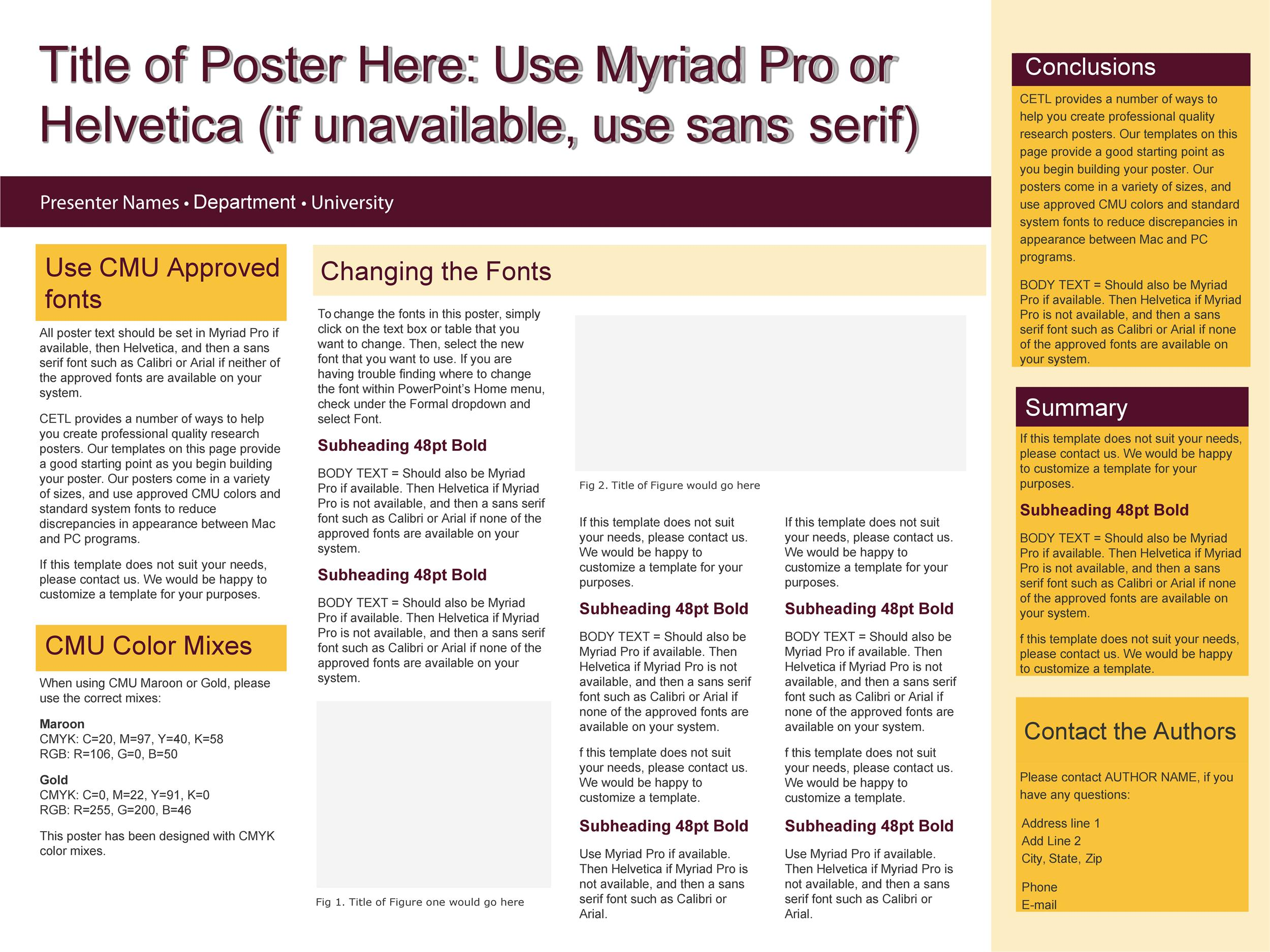 Free research poster template 33