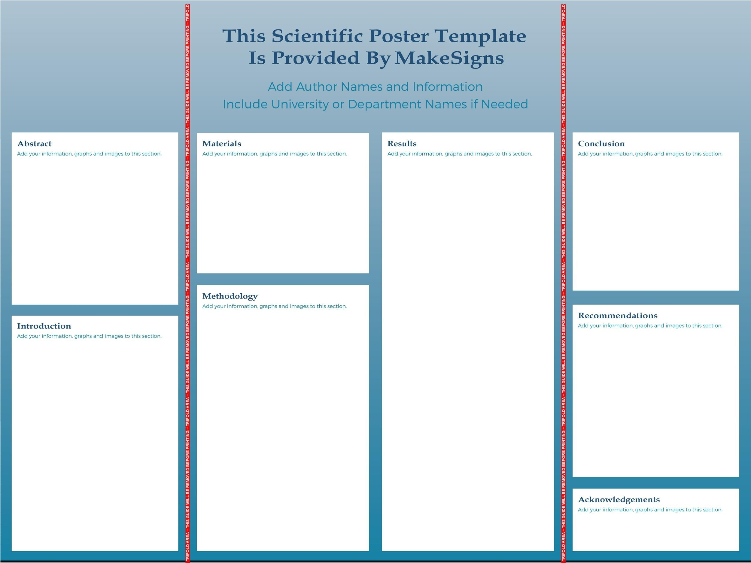 Free research poster template 34