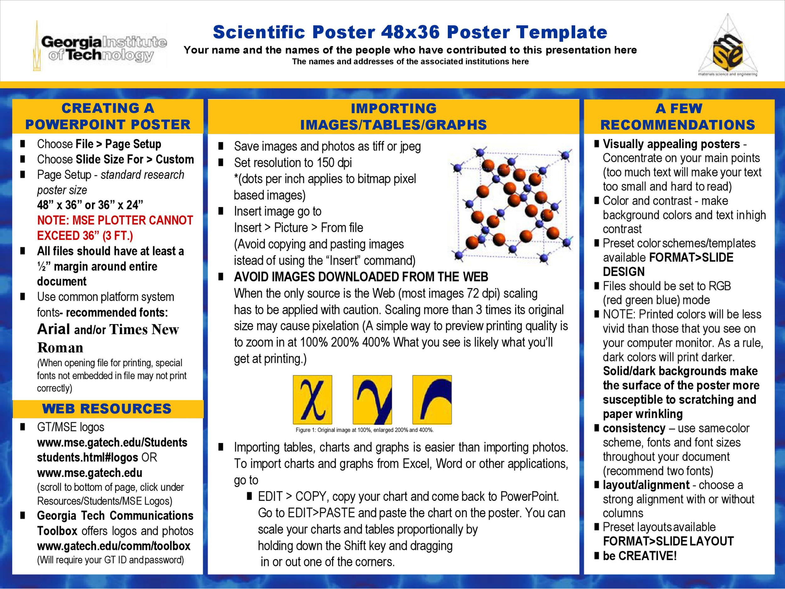 Free research poster template 39