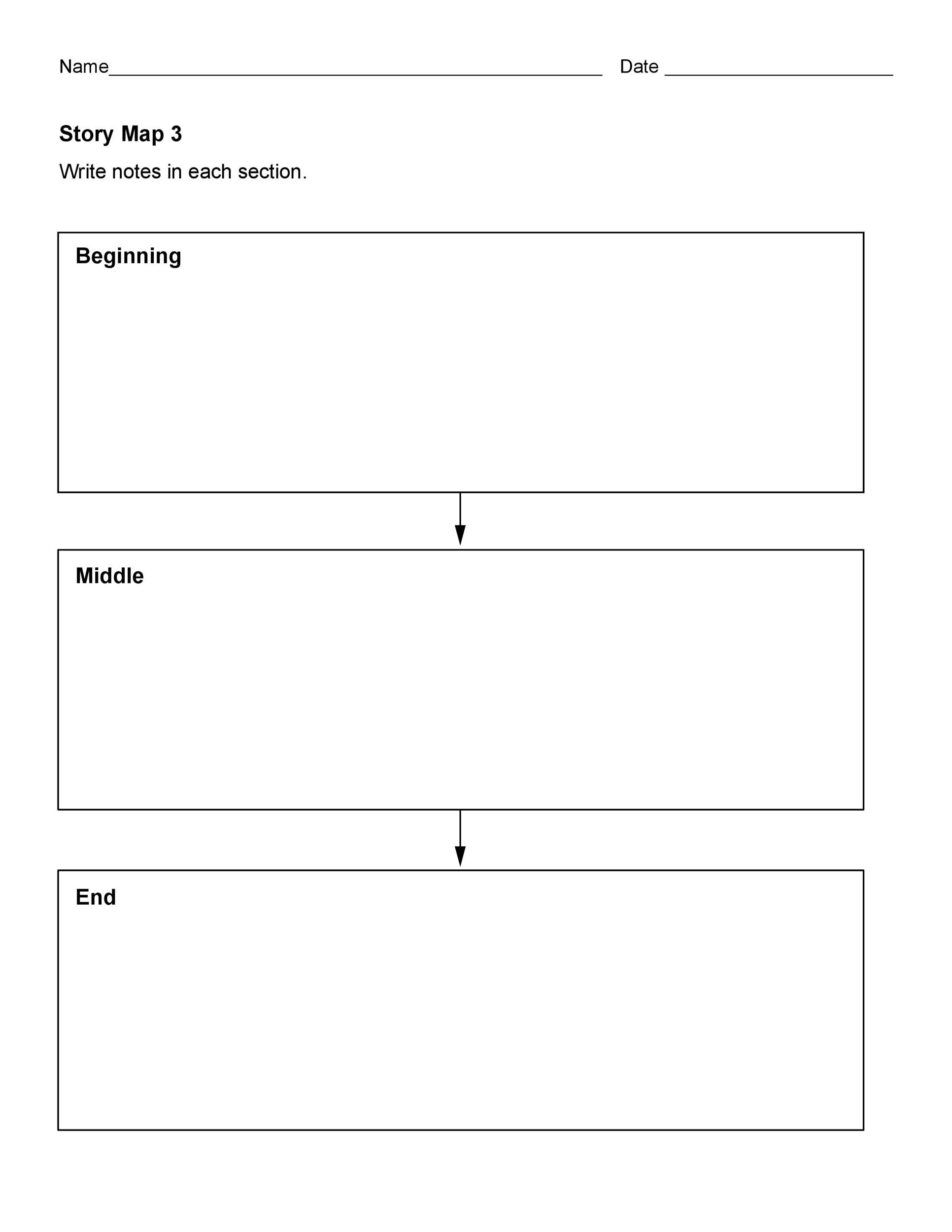 photo relating to Printable Story Maps named 41 Cost-free Printable Tale Map Templates [PDF / Term] ᐅ