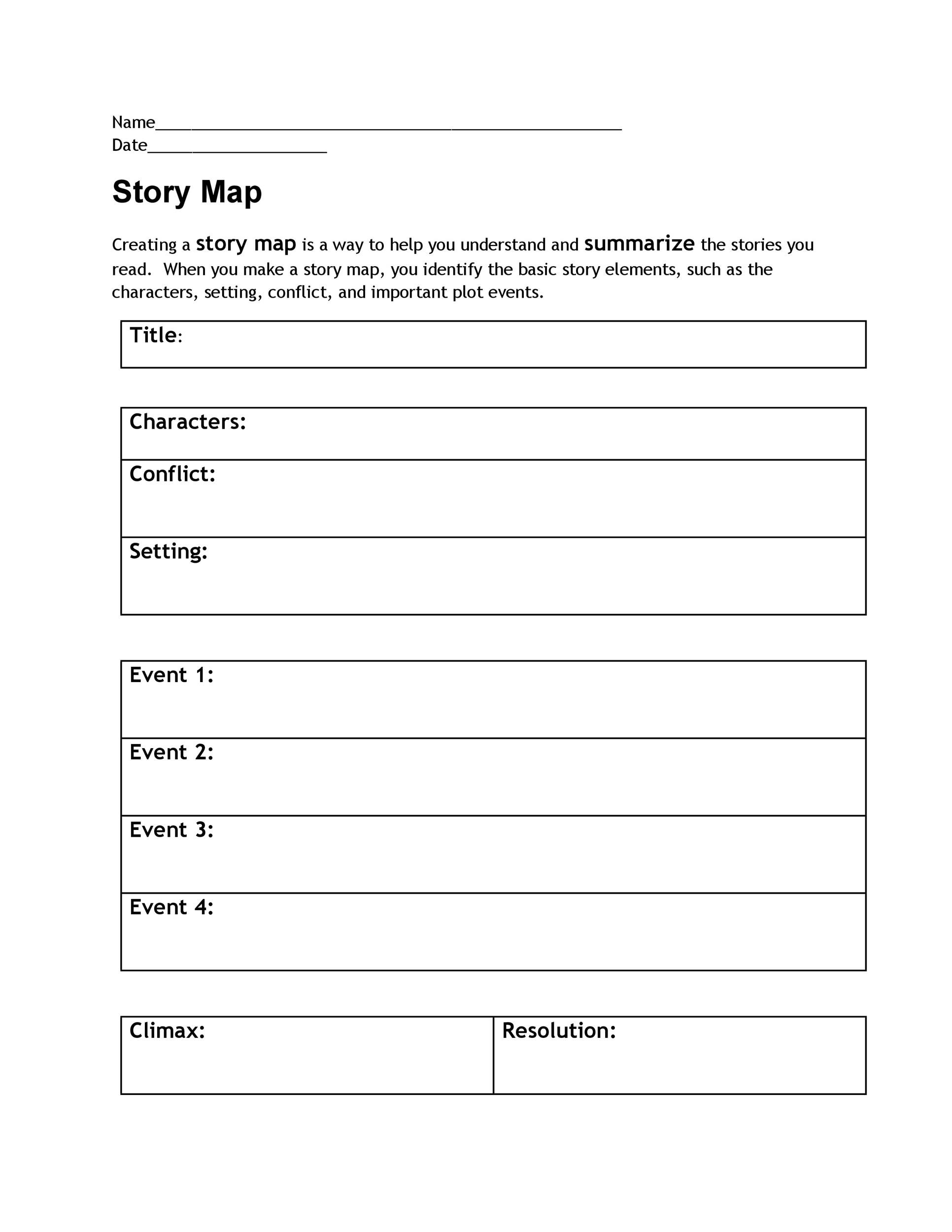 photograph regarding Story Map Template Printable called 41 Totally free Printable Tale Map Templates [PDF / Term] ᐅ