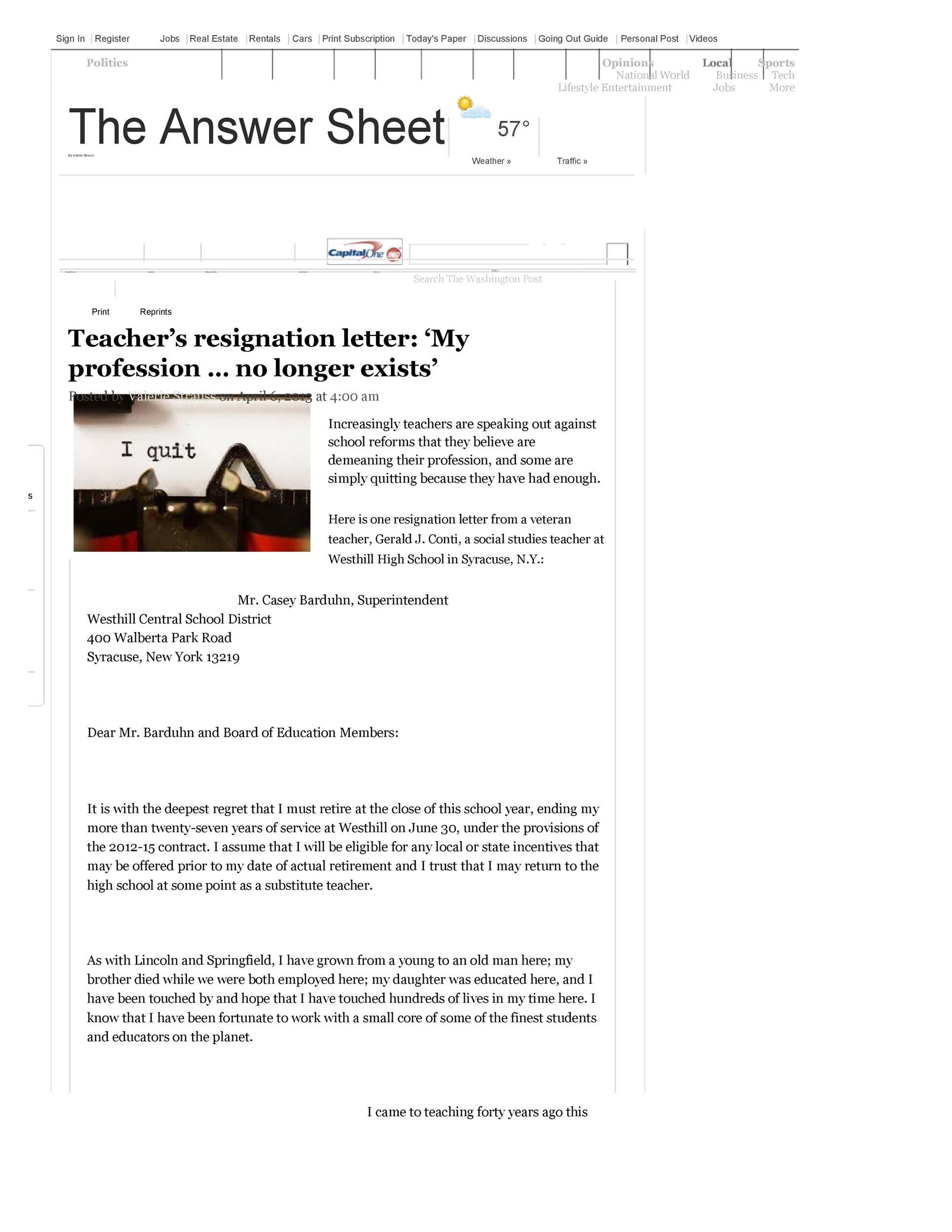 Free teacher resignation letter 38