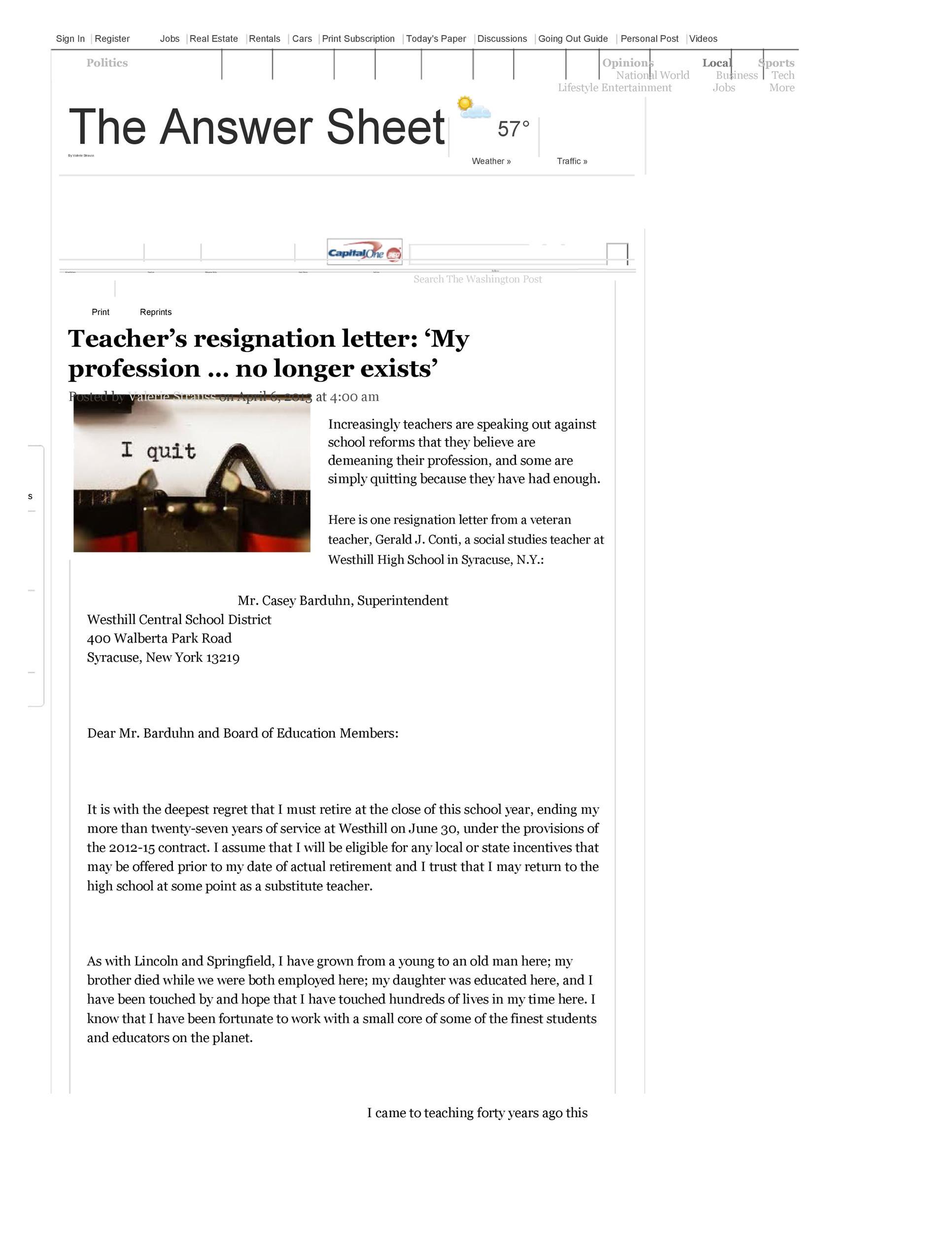 Free teacher resignation letter 38