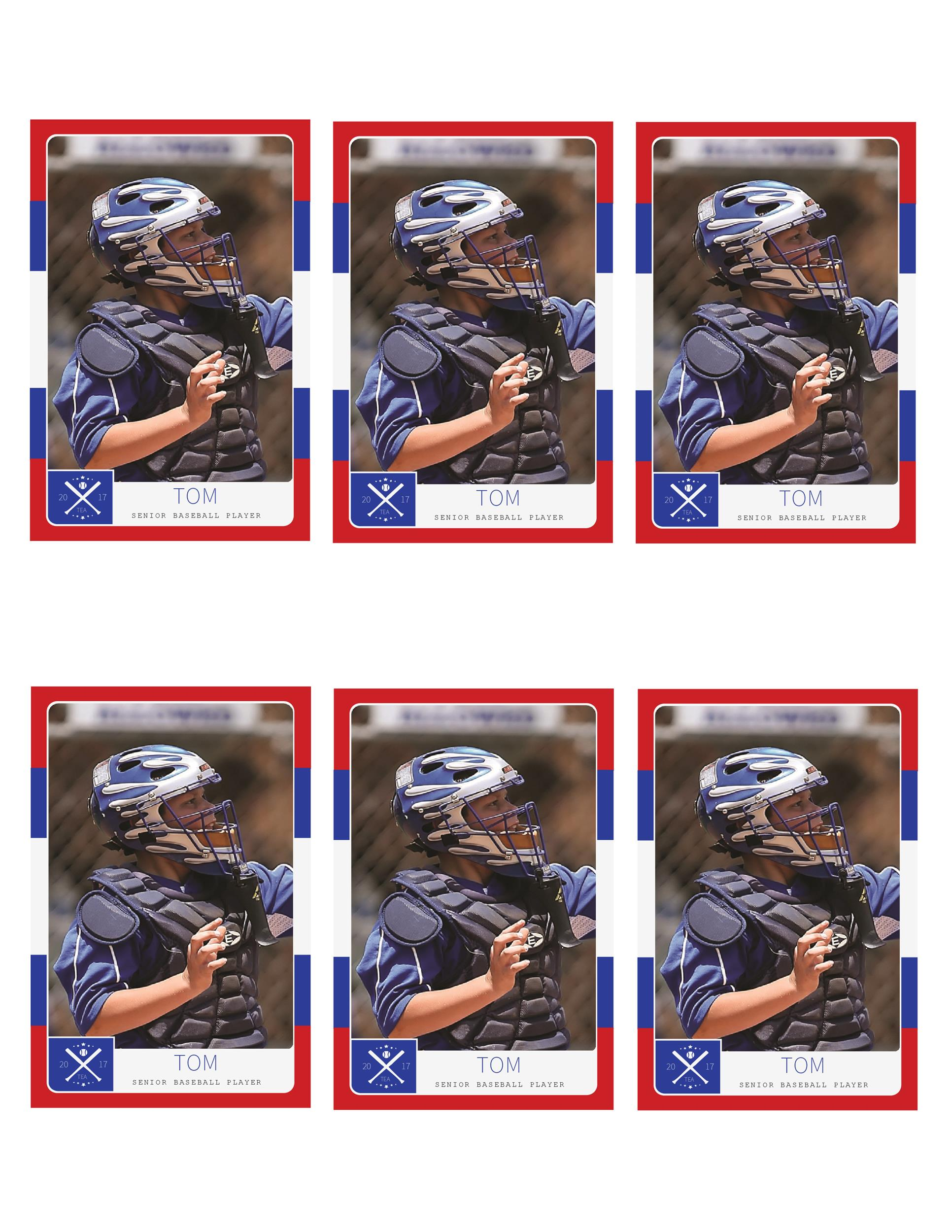 Free trading card template 01
