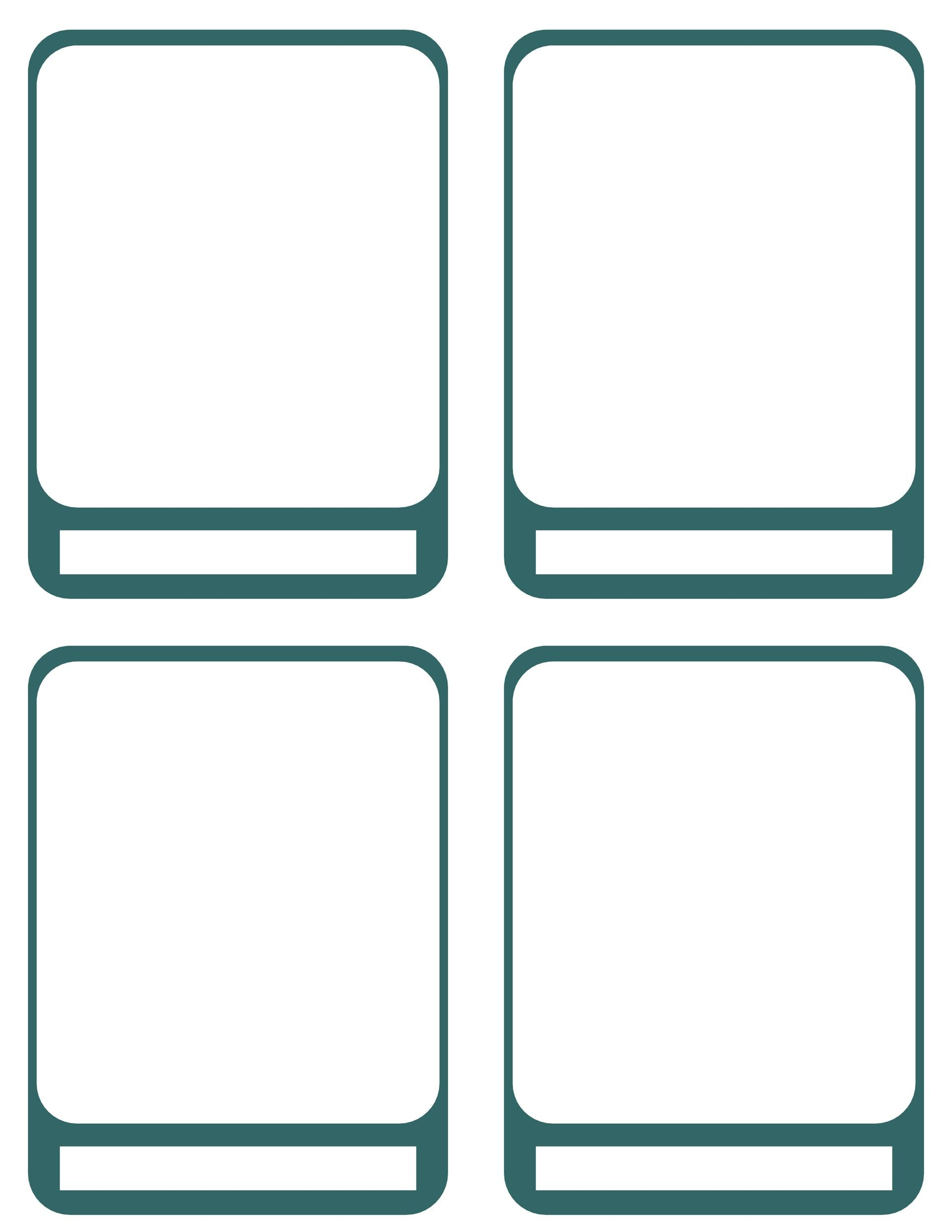 Free trading card template 07