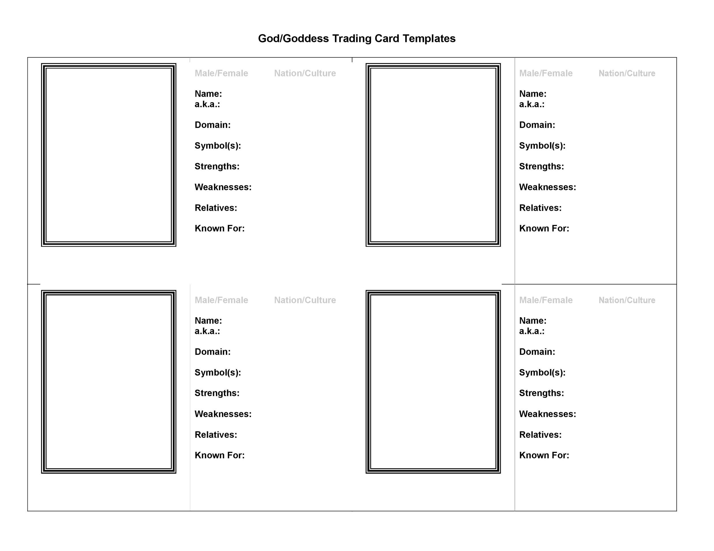 Free trading card template 11