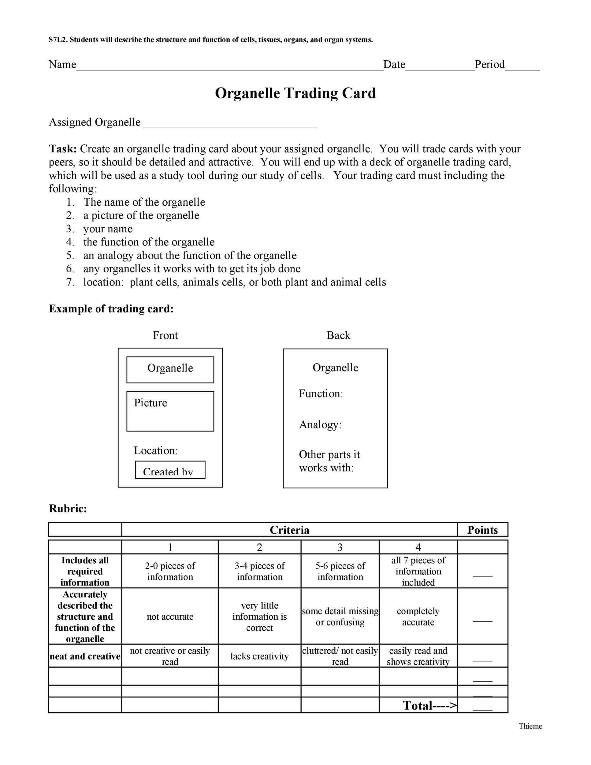 Free trading card template 13