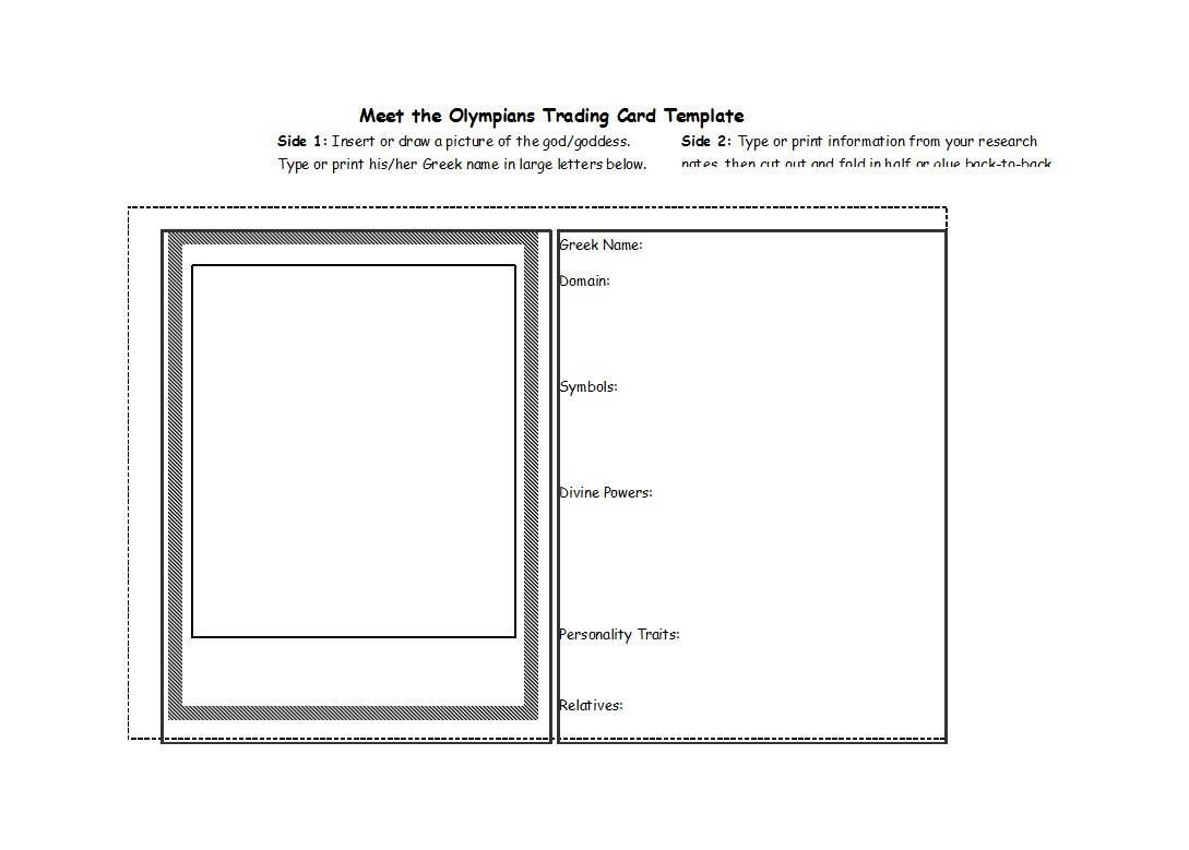 Free trading card template 18