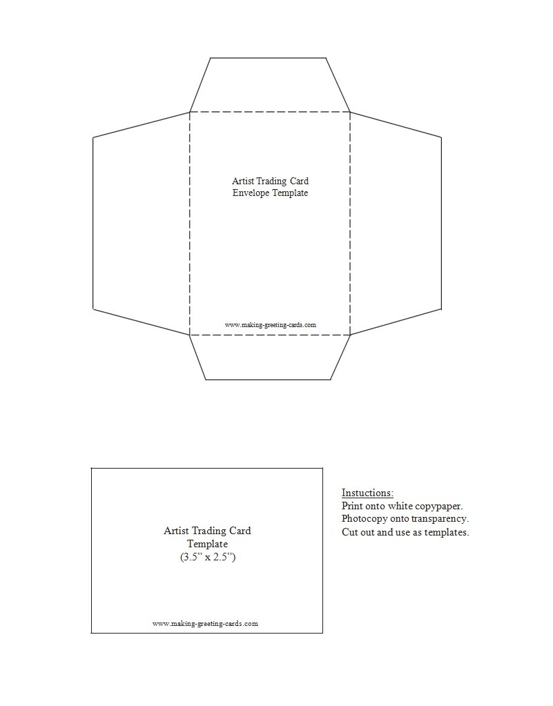 Free trading card template 27