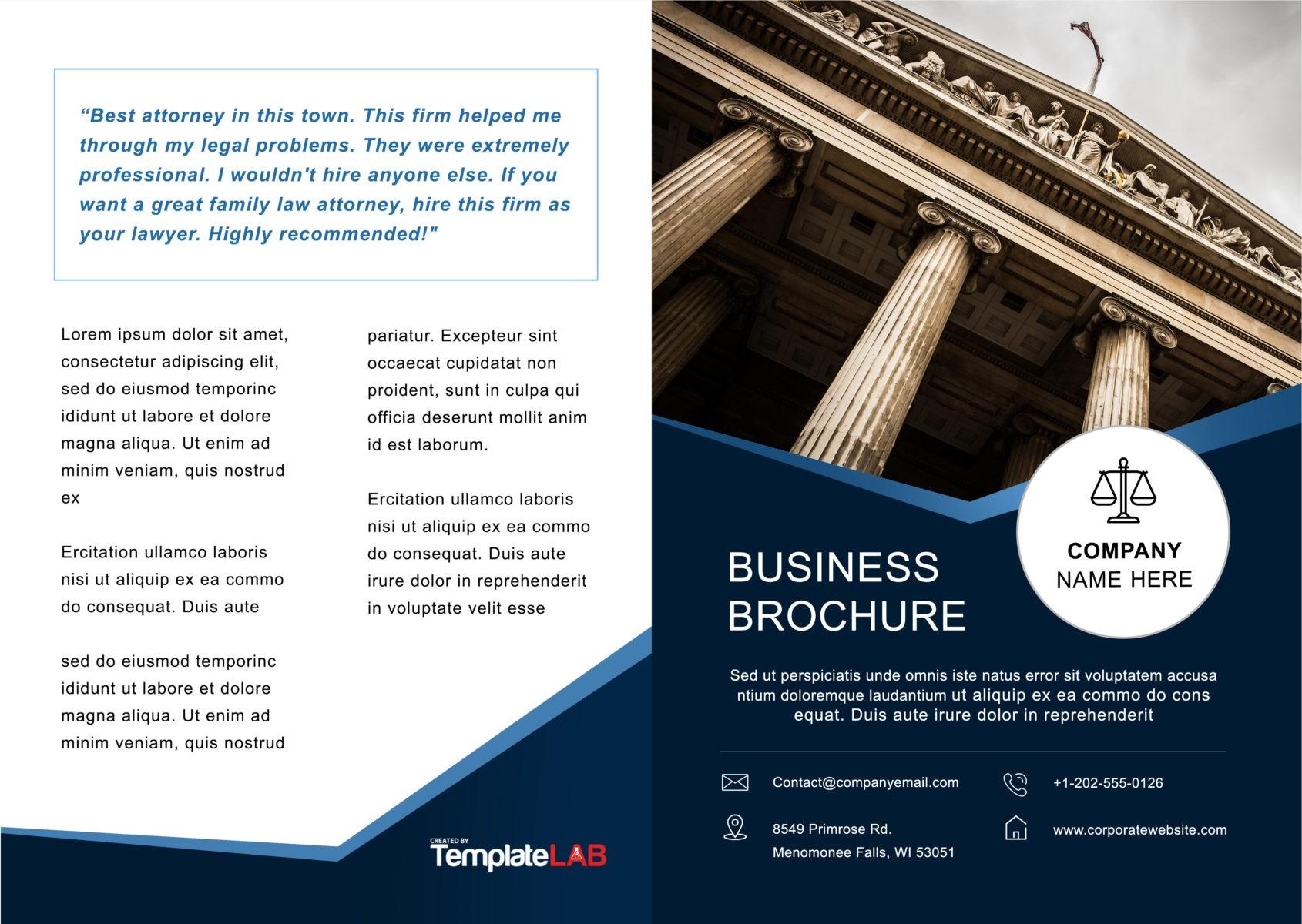 Free Bifold Brochure Template 2