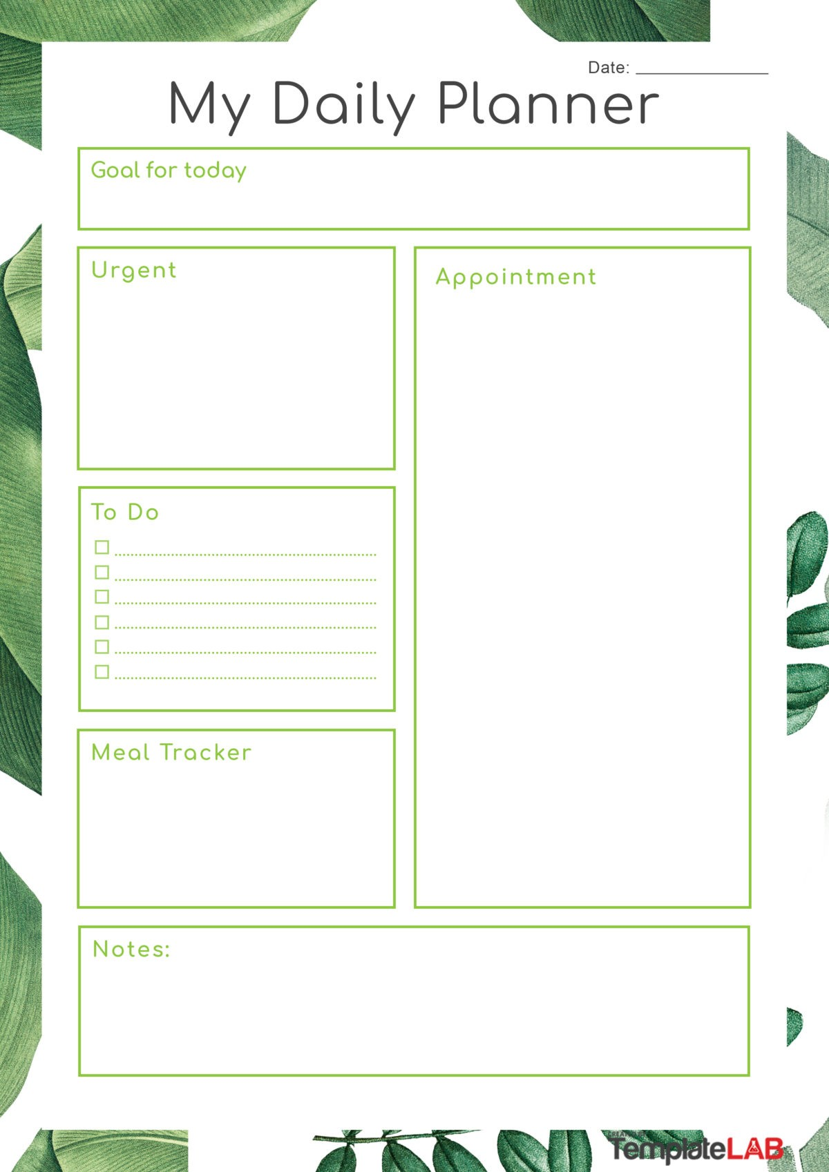 Free Daily Planner Template 10