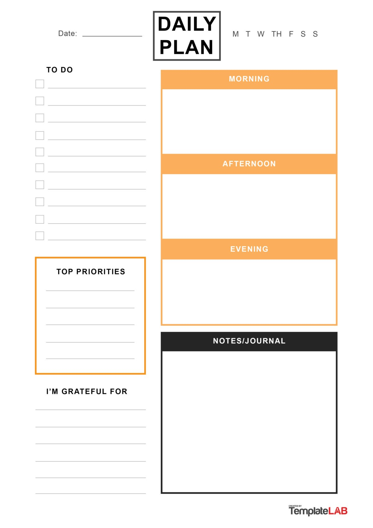 Free Daily Planner Template 12