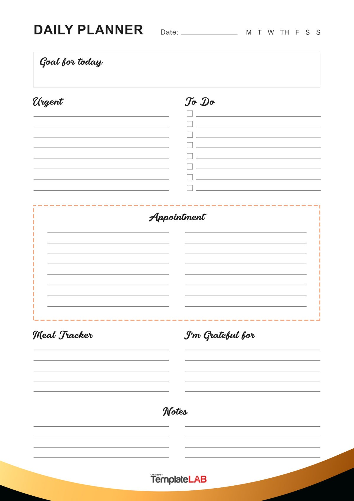 Free Daily Planner Template 13