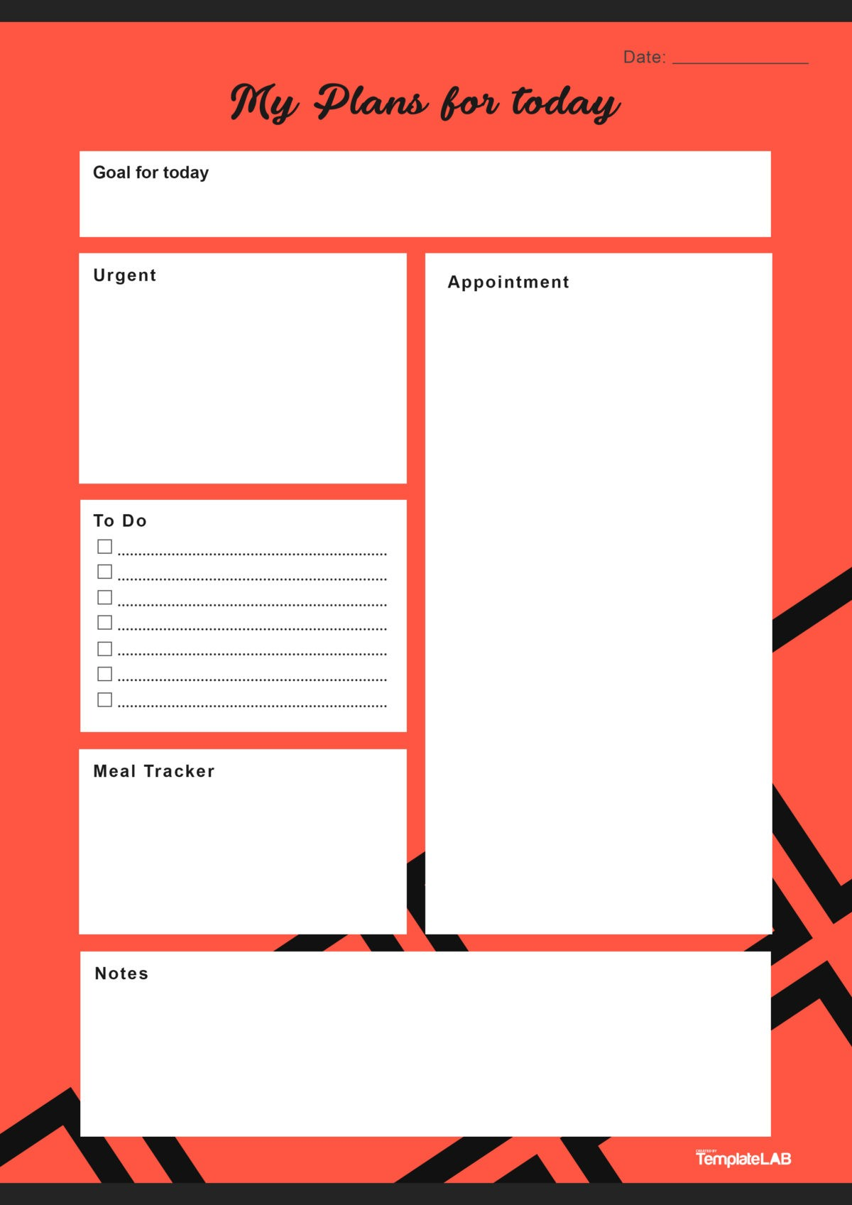 Free Daily Planner Template 03