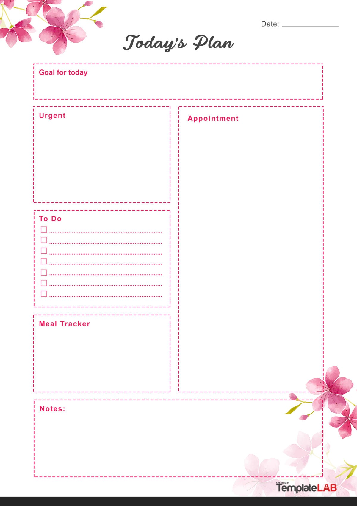 Free Daily Planner Template 05