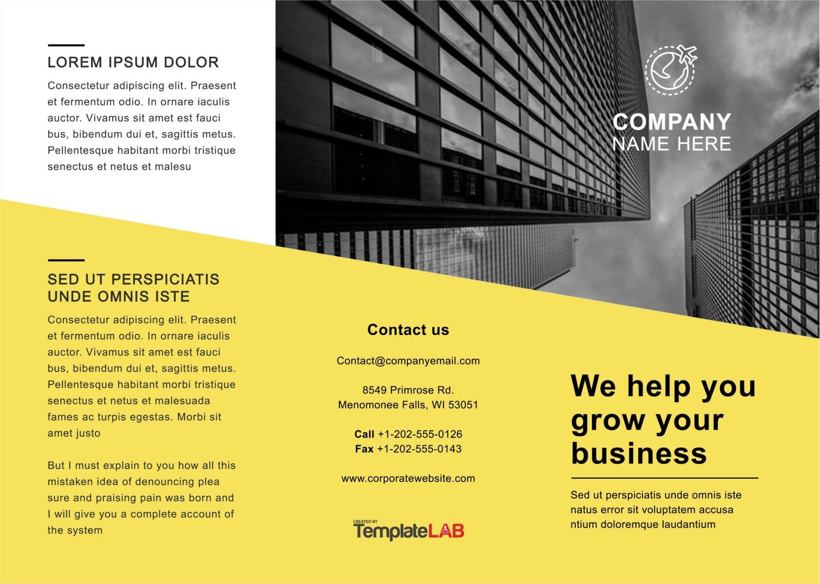 Free Trifold Brochure Template 01