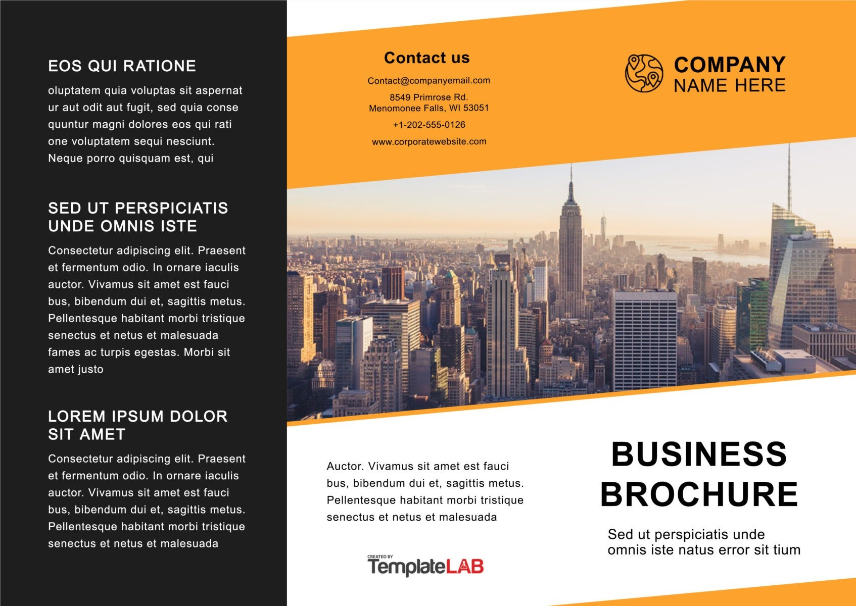 Free Trifold Brochure Template 04